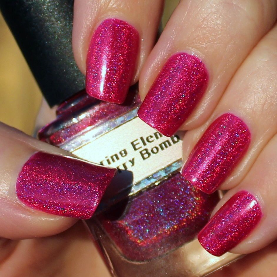 Nfu Oh Aqua Base / Glittering Elements Cherry Bomb / OutTheDoor Top Coat
