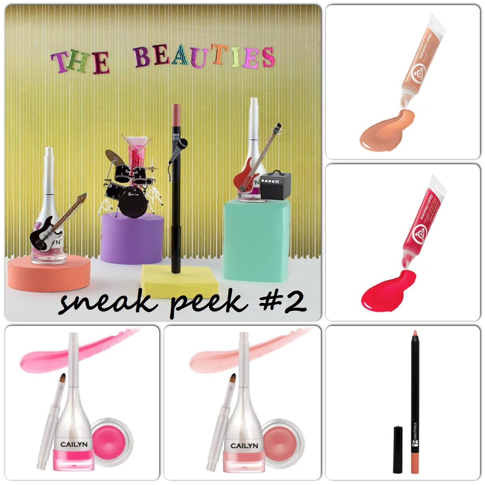 Sneak Peek #2 - Mary Kay At Play™ Jelly Lip Gloss (Teddy Bare or Berry Me), Starlooks Luscious Longwear Lip Pencil (Naked) & Cailyn Tinted Lip Balm (Apple Pink or Acid Pink)