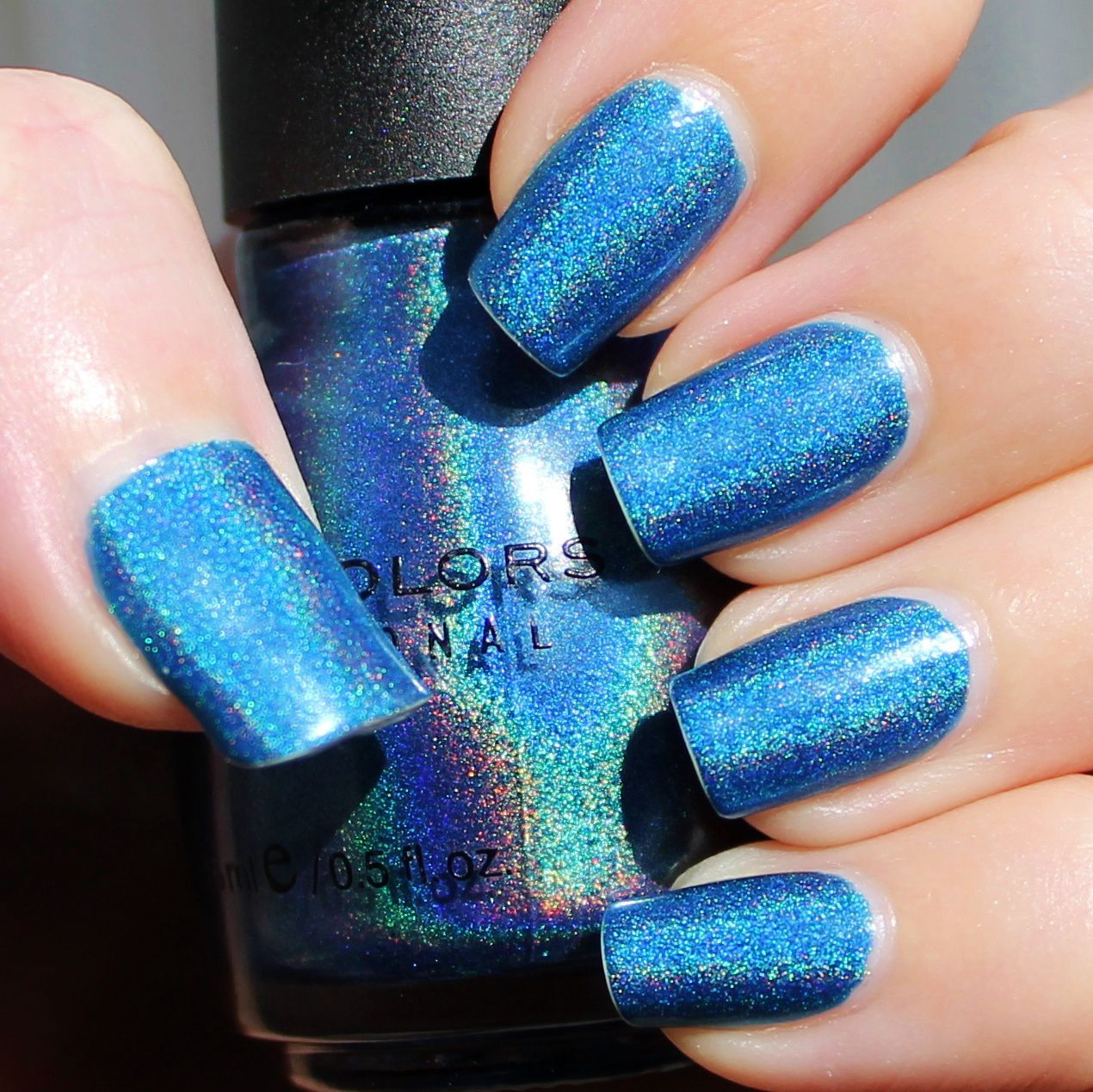 Nfu Oh Aqua Base / Sinful Colord Franken Polish Ciao Bella Holographic / OutTheDoor Top Coat