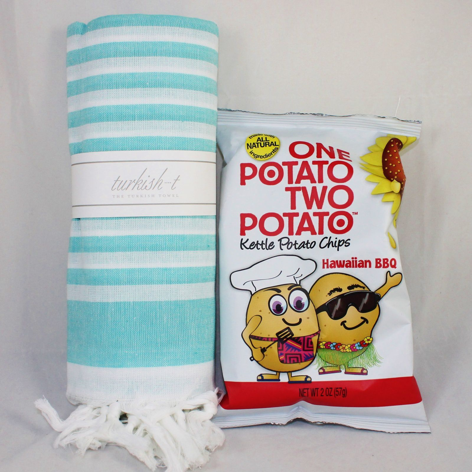 Turkish T Towel ($32) & One Potato Two Potato Kettle Chips ($1.50)