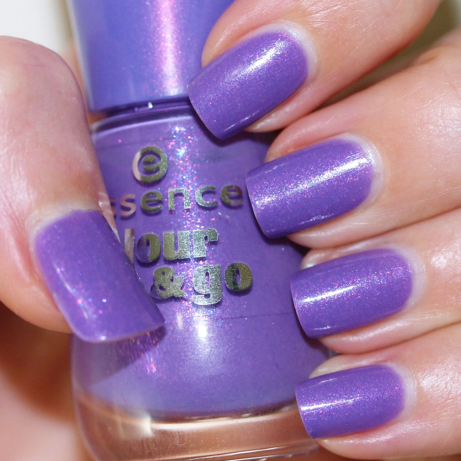Essie Protein Base Coat / Essence Oh My Glitter! / OutTheDoor Top Coat