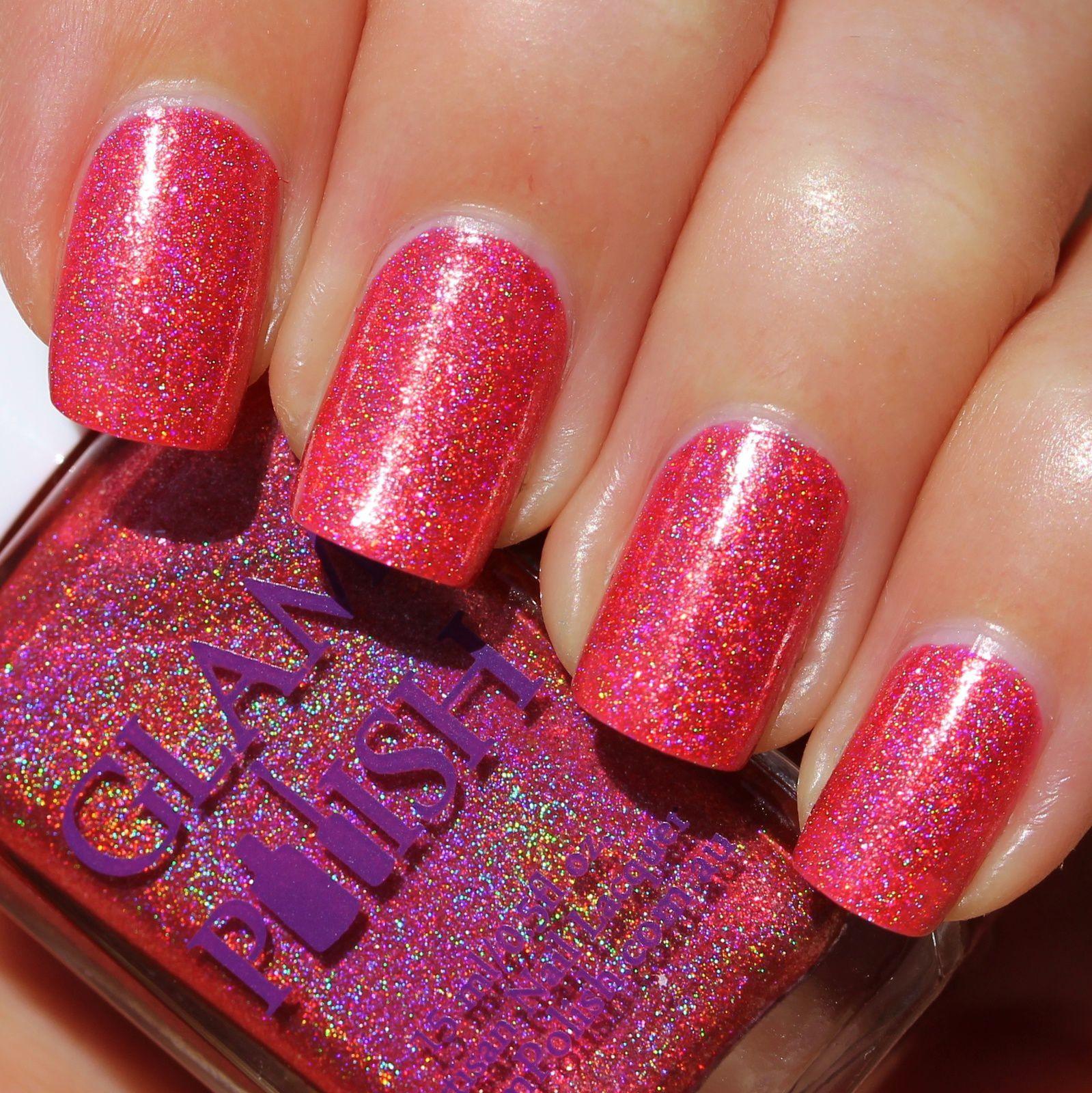 Glam Polish Don't Make me Blush (2 coats, no base coat, no top coat)