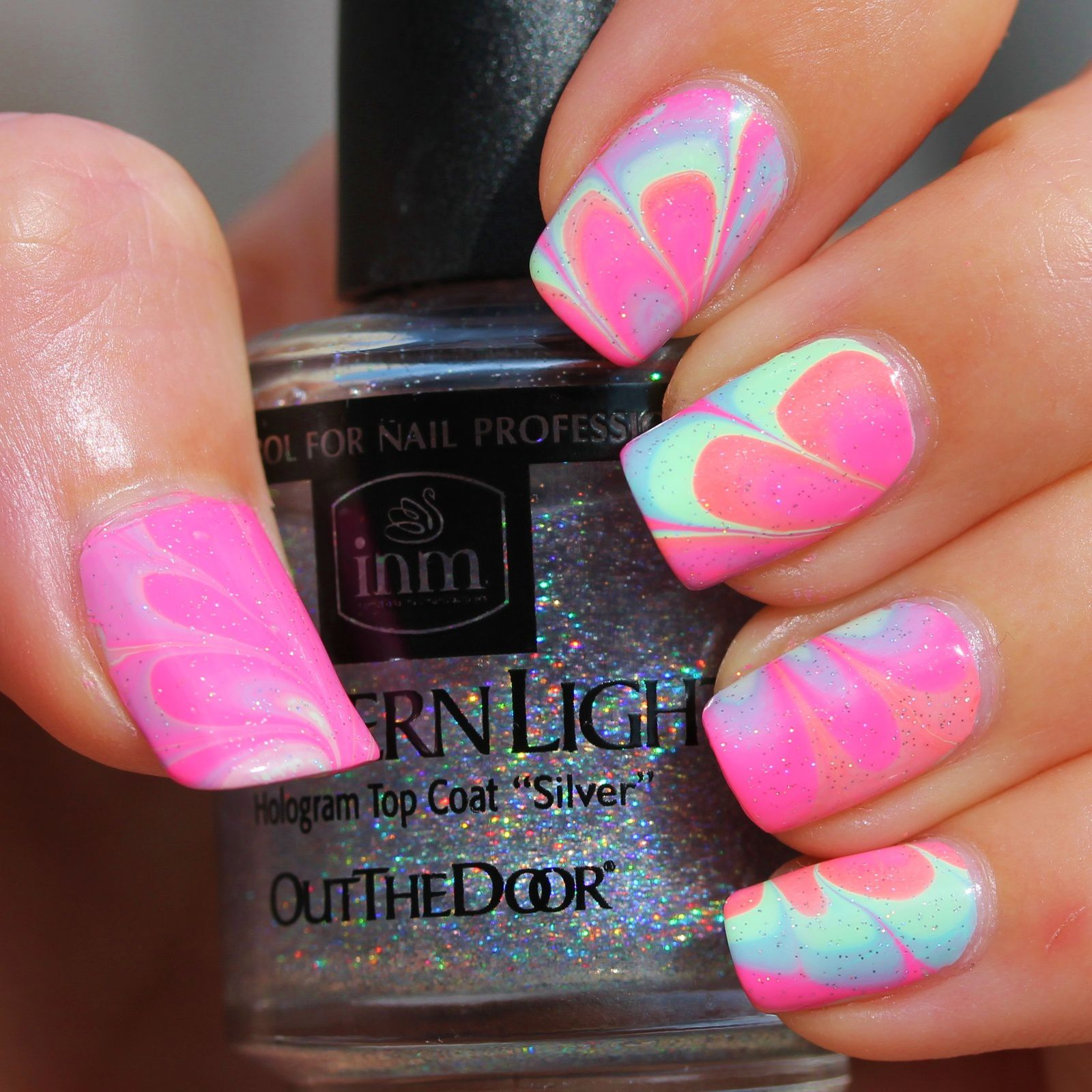 Duri Rejuvacote / Lilypad Lacquer In The Milkyway / Summer Brights Water Marble / Northern Lights Top Coat
