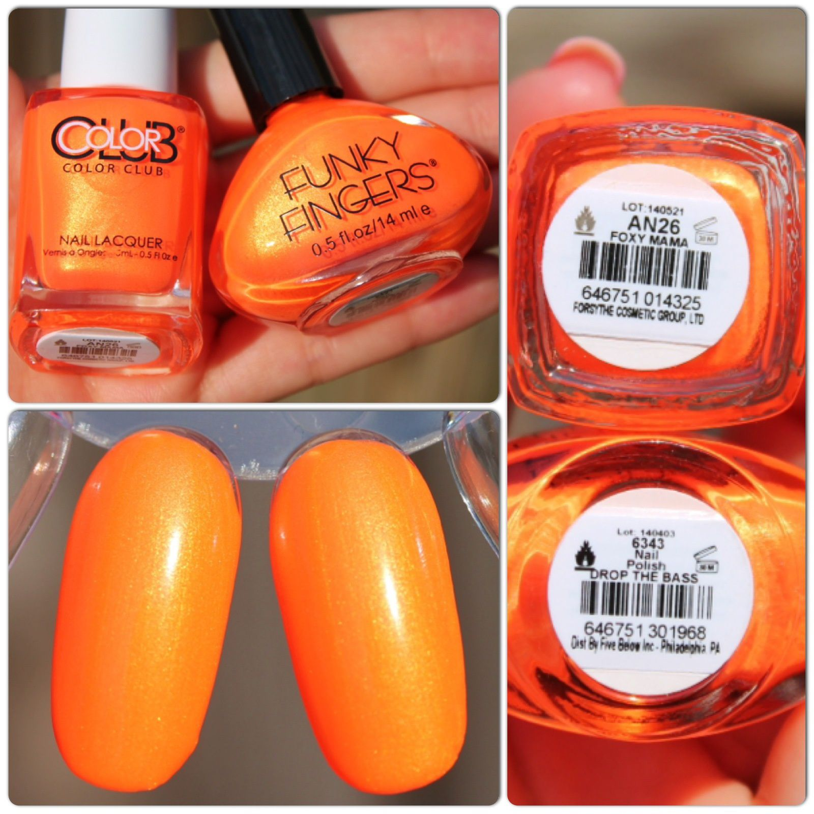 Dupe Alert! Color Club Poptastic 2014 vs. Funky Fingers Summer Neons ...