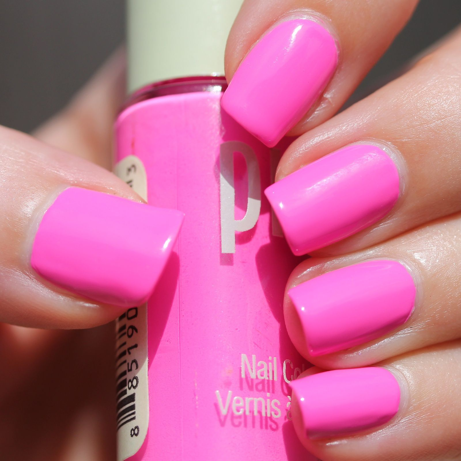 Essie Protein Base Coat / PIXI Paradise Pink / Poshe Top Coat