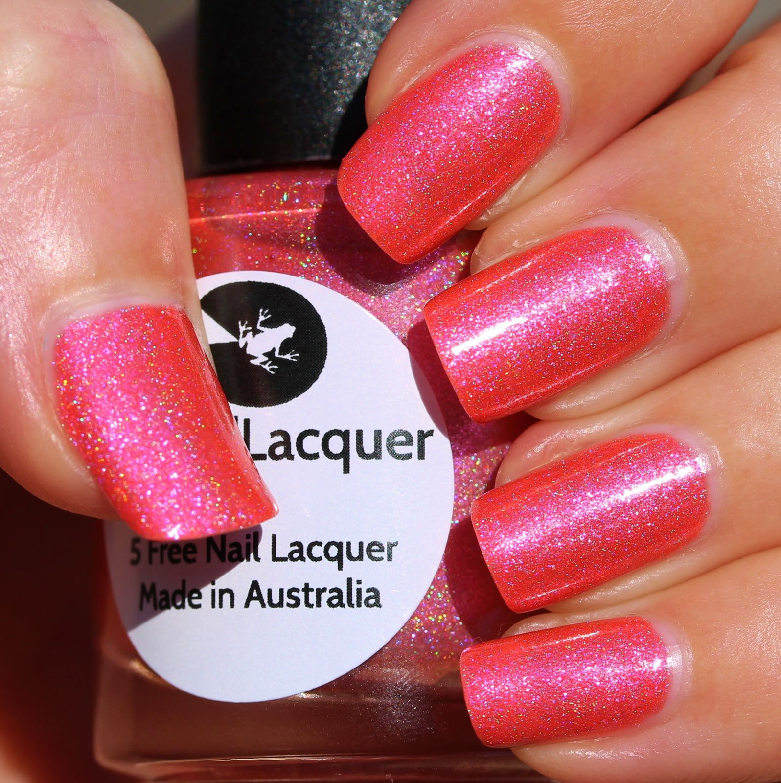 Lilypad Lacquer - Captivating Coral (2 coats, no top coat)