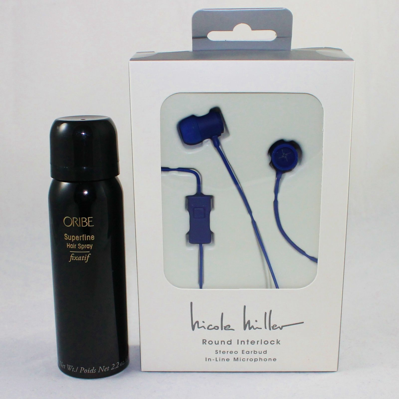 Oribe Superfine Purse Size Hair Spray & Nicole Miller Stereo Earbuds
