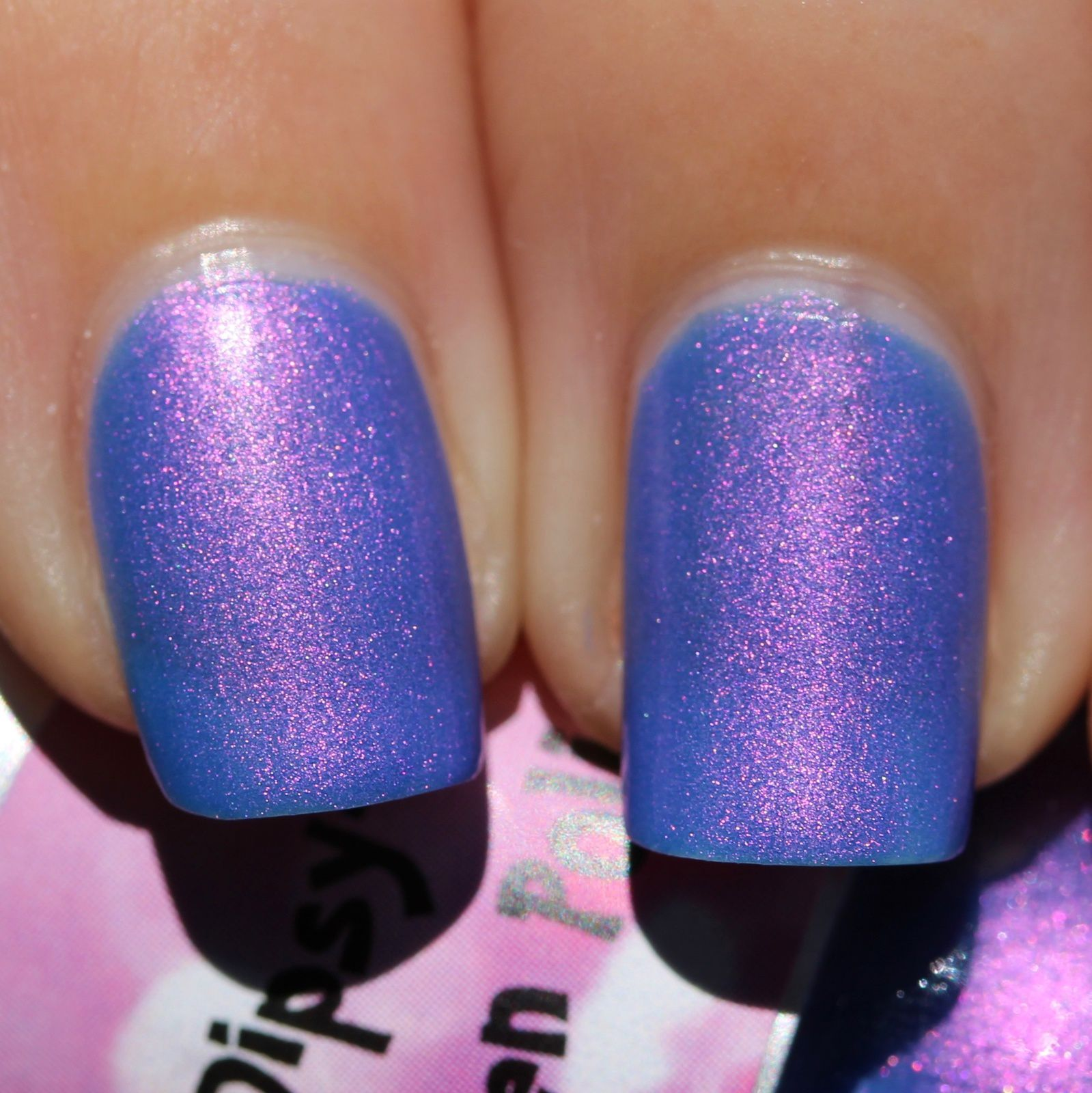 Pink Dipsy Bulle Franken Polish - Indian Ocean (2 coats no top coat)
