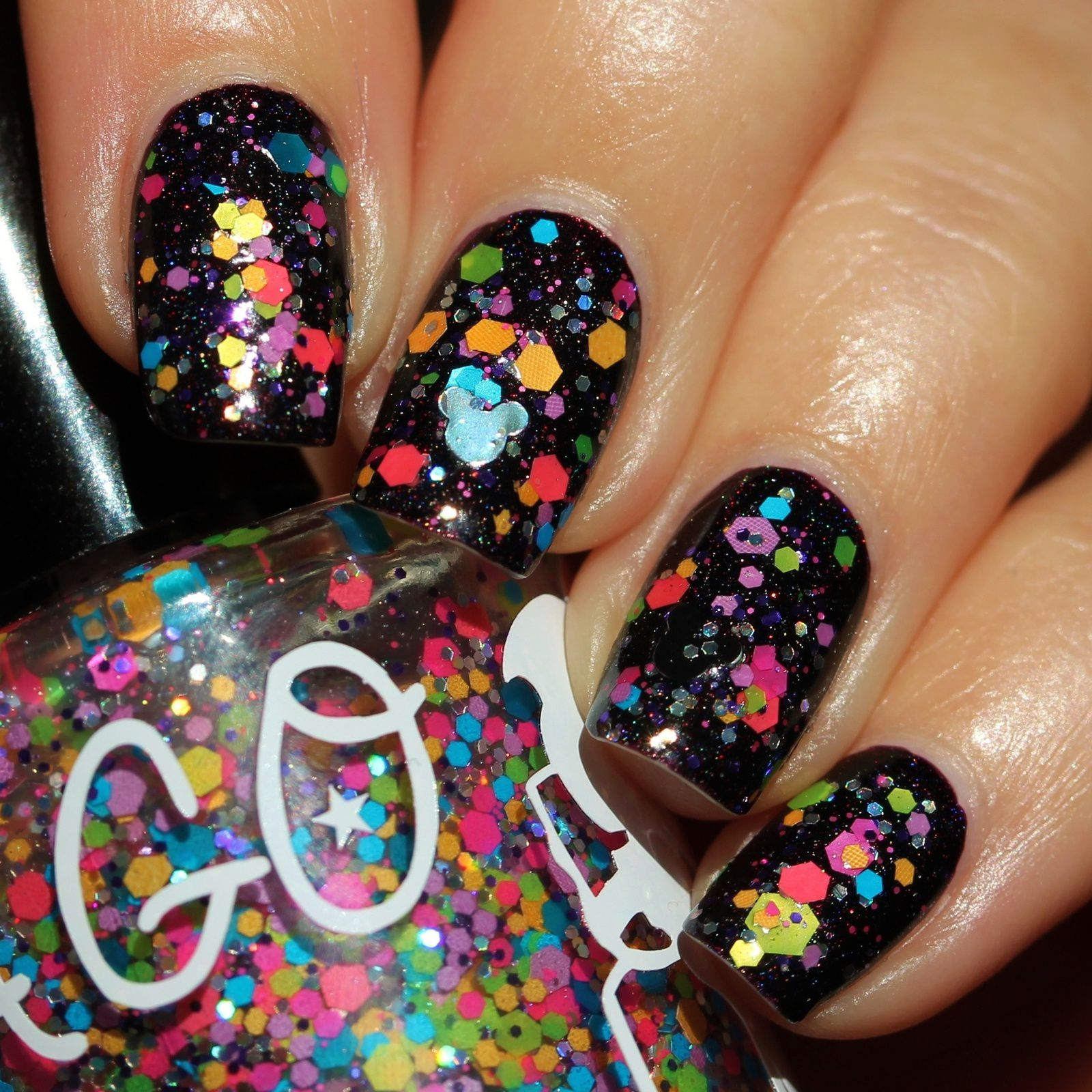 Duri Rejuvacote / Lilypad Lacquer Vamp-a-licious / A Girl Obsessed 80's Mouse Party / Poshe Top Coat