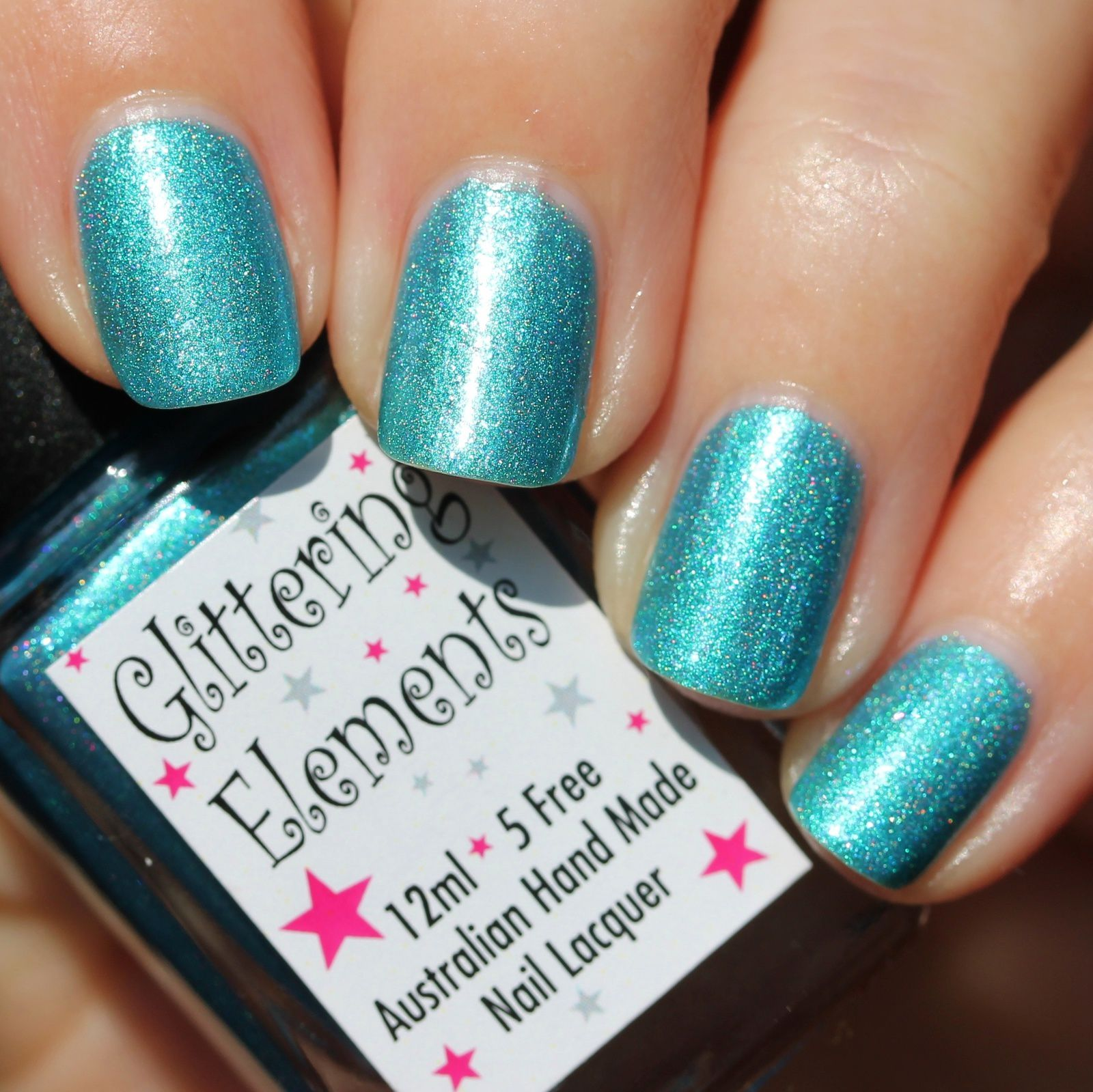 Glittering Elements Christmas in Paradise (3 coats, no top coat)