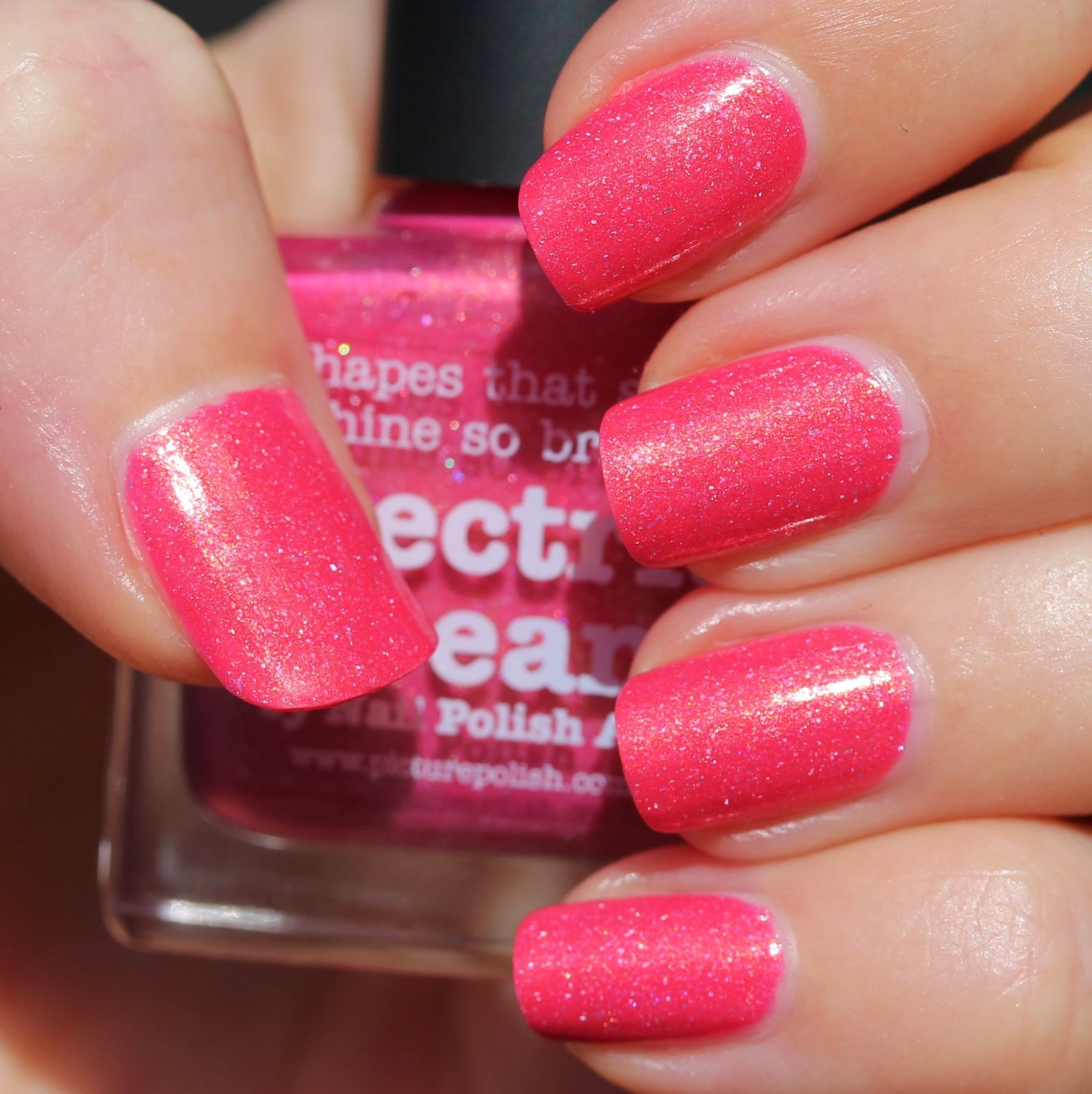 Essie Protein Base Coat / piCture pOlish Electric Dream / Sally Hansen Miracle Gel Top Coat