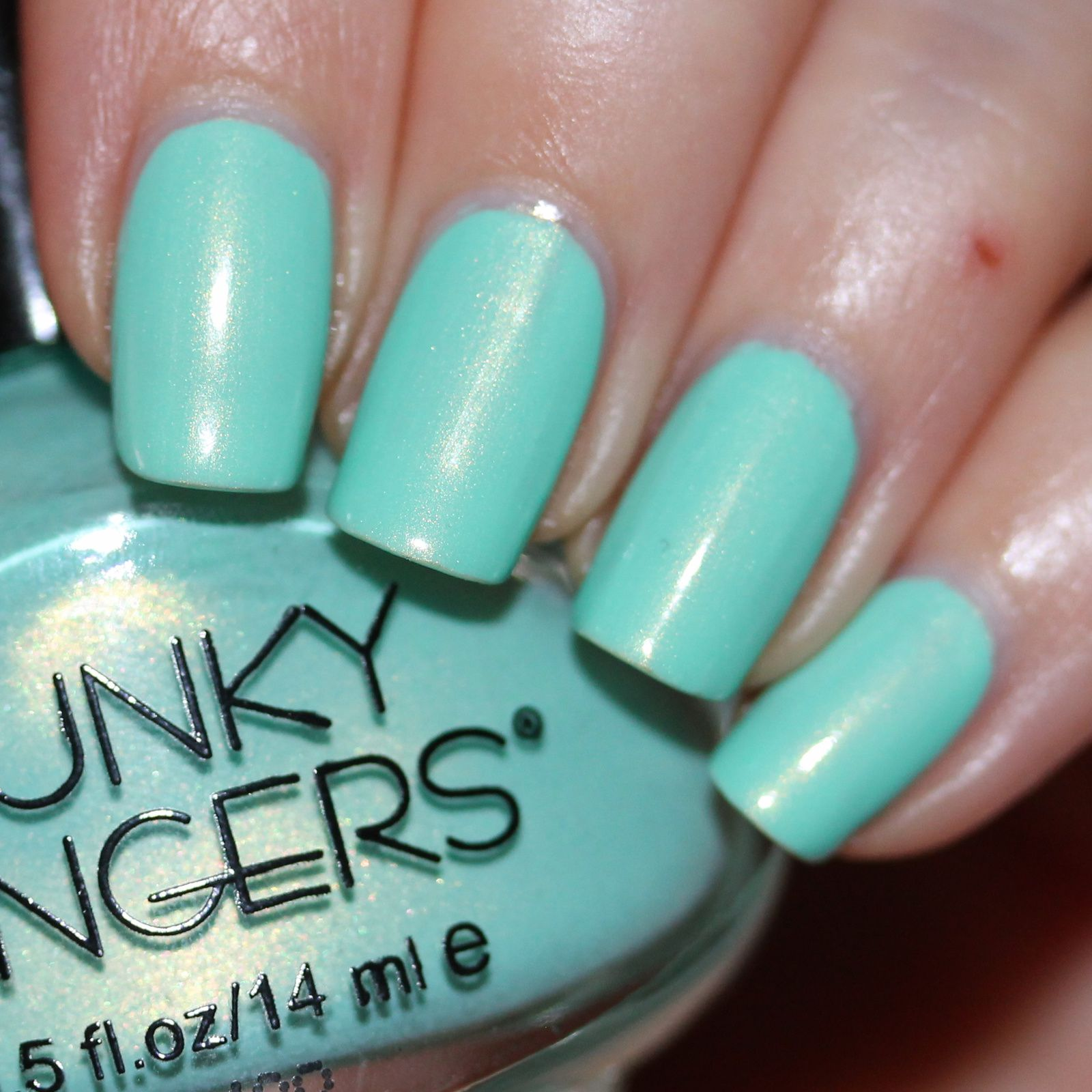 Essie Protein Base Coat / Funky Fingers Mrs. Mint / HK Girl Top Coat