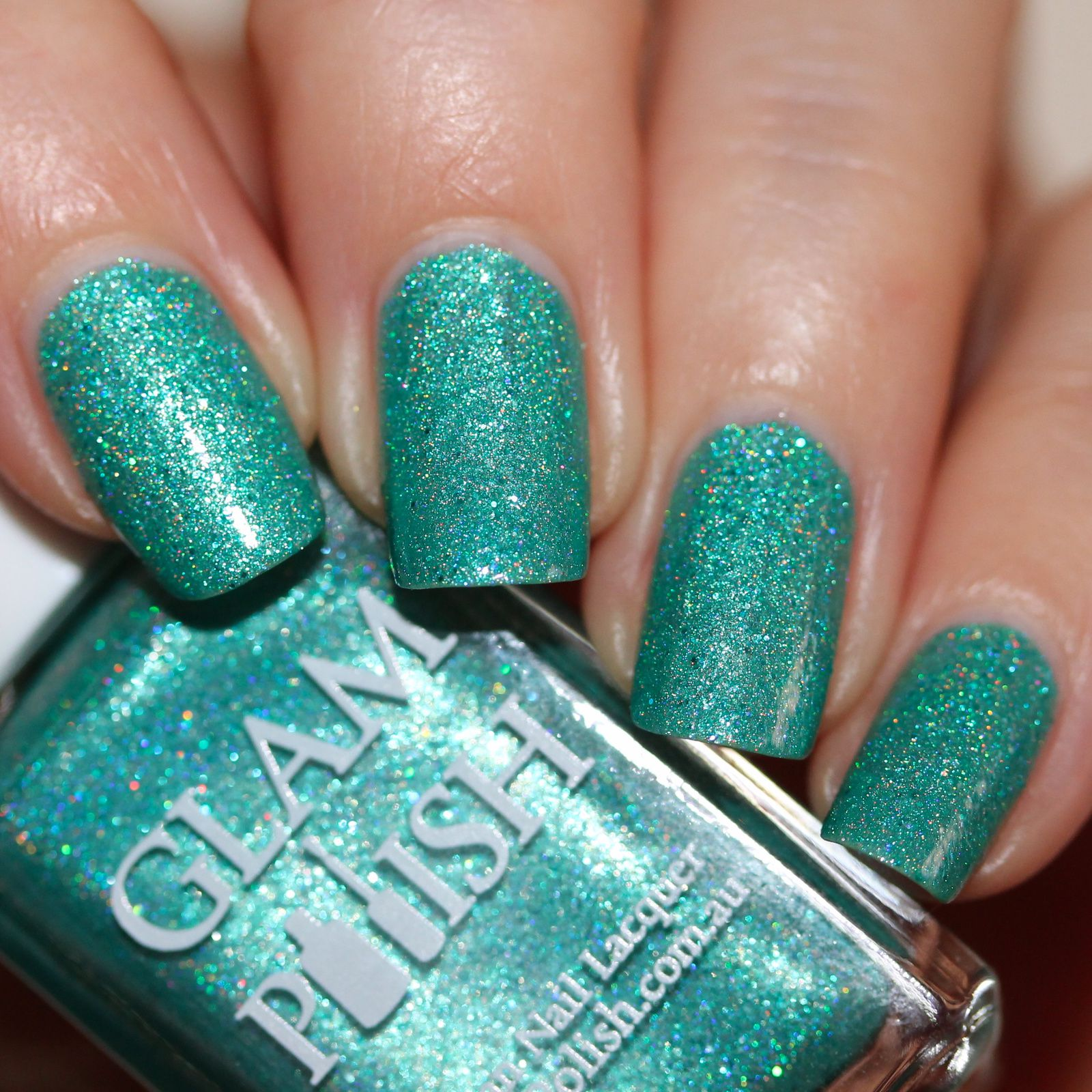 Glam Polish Ariel (2 coats, 1 coat of top coat)