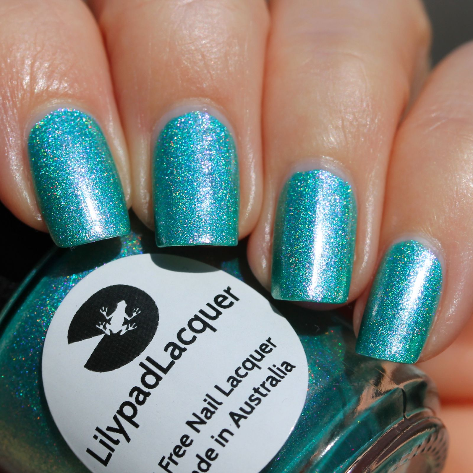 Duri Rejuvacote / Lilypad Lacquer Weird Cyance / Sally Hansen Miracle Gel Top Coat