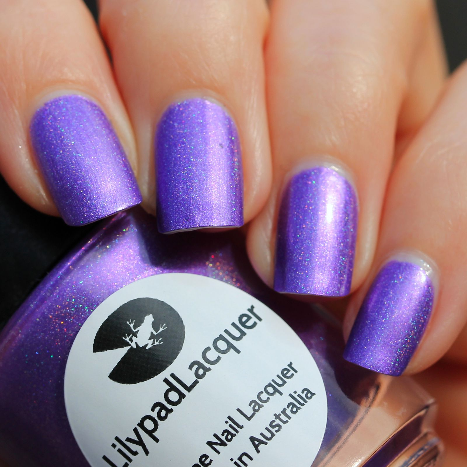 Duri Rejuvacote / Lilypad Lacquer Purple People Eater / Sally Hansen Miracle Gel Top Coat