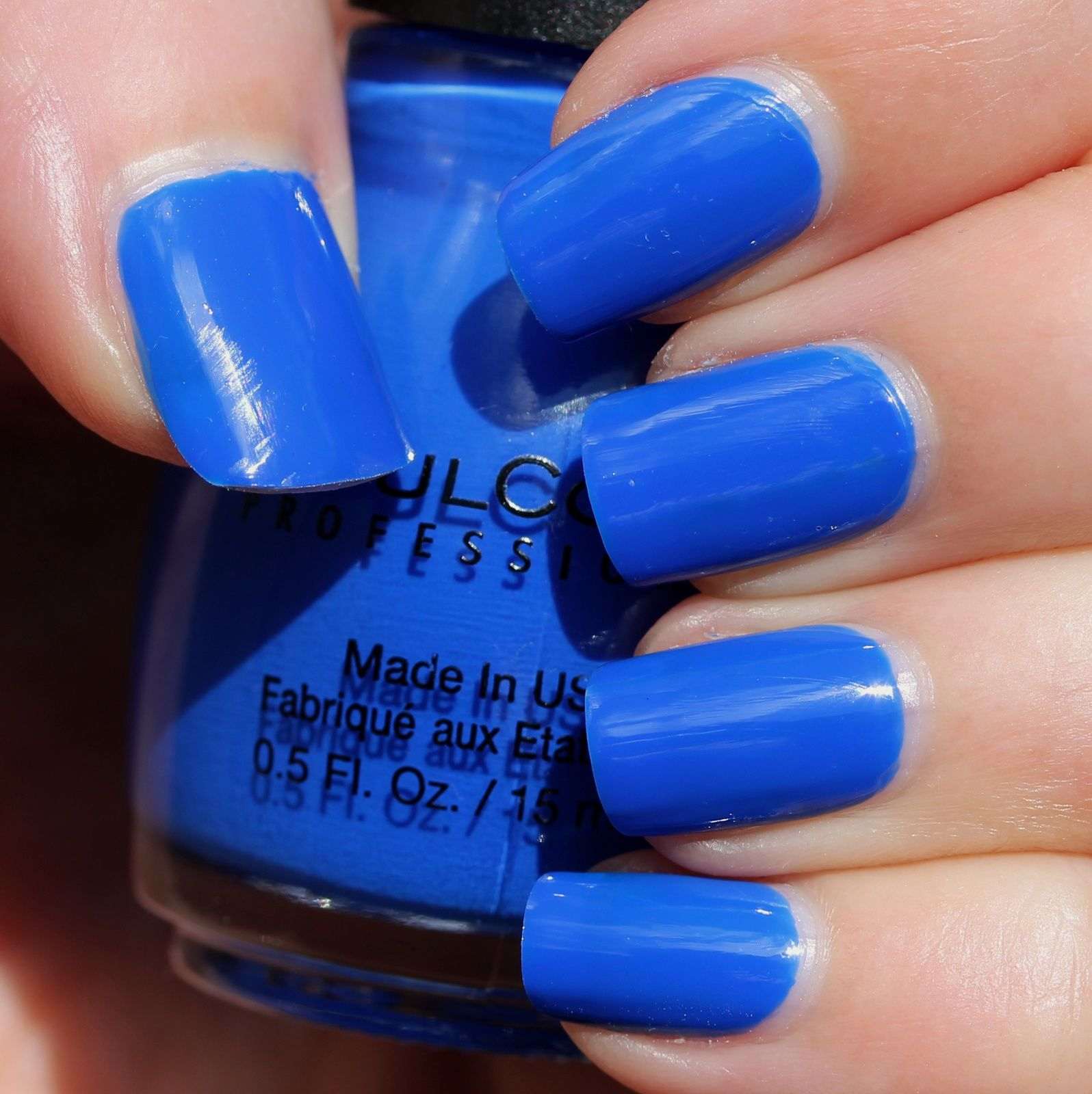 Sally Hansen Complete Care 4-in-1 Extra Moisturizing Nail Treatment / Sinful Colors Endless Blue / Sally Hansen Miracle Gel Top Coat