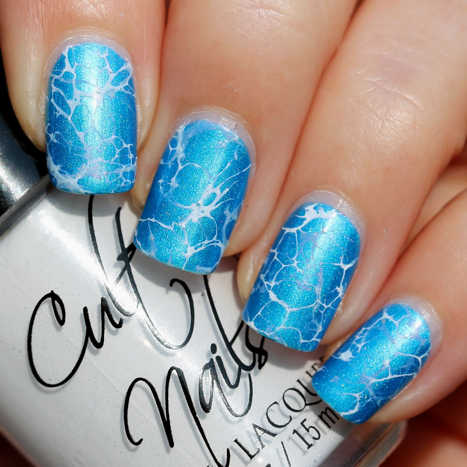 Duri Rejuvacote / Carpe Noctem Cosmetics King Triton / Cult nails Tempest & China Glaze Dashboard Dreamer Spotted Water Marble / Sally Hansen Miracle Gel Top Coat