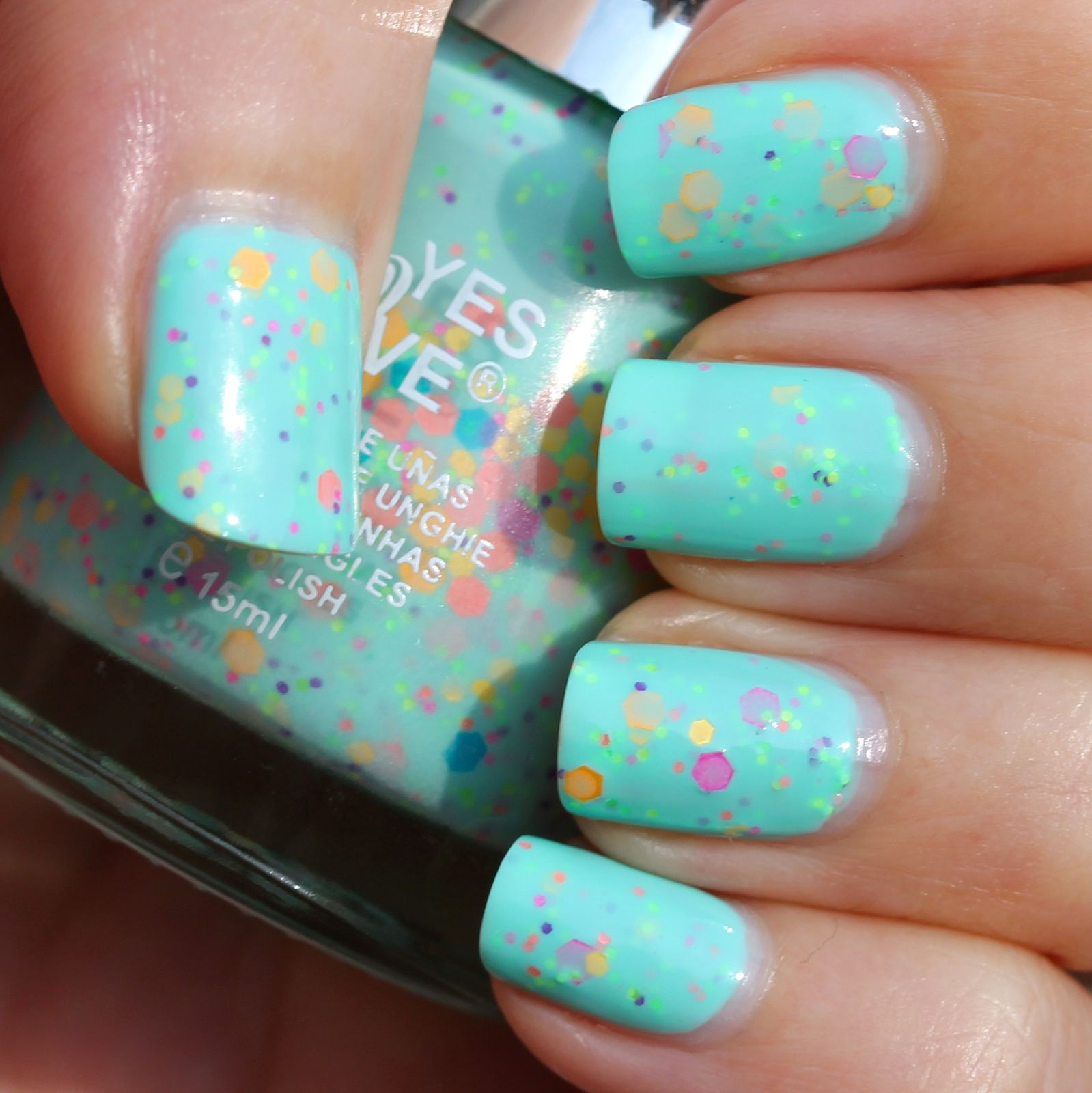 Duri Rejuvacote / Yes Love Neon Glitter G1-3 / Poshe Top Coat