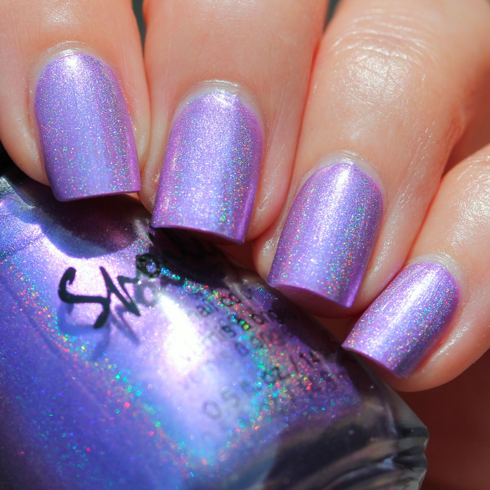 Duri Rejuvacote / Sation Love at First Lavender / Spoiled Franken Polish Checkin' Into Rehab / Sally Hansen Miracle Gel Top Coat