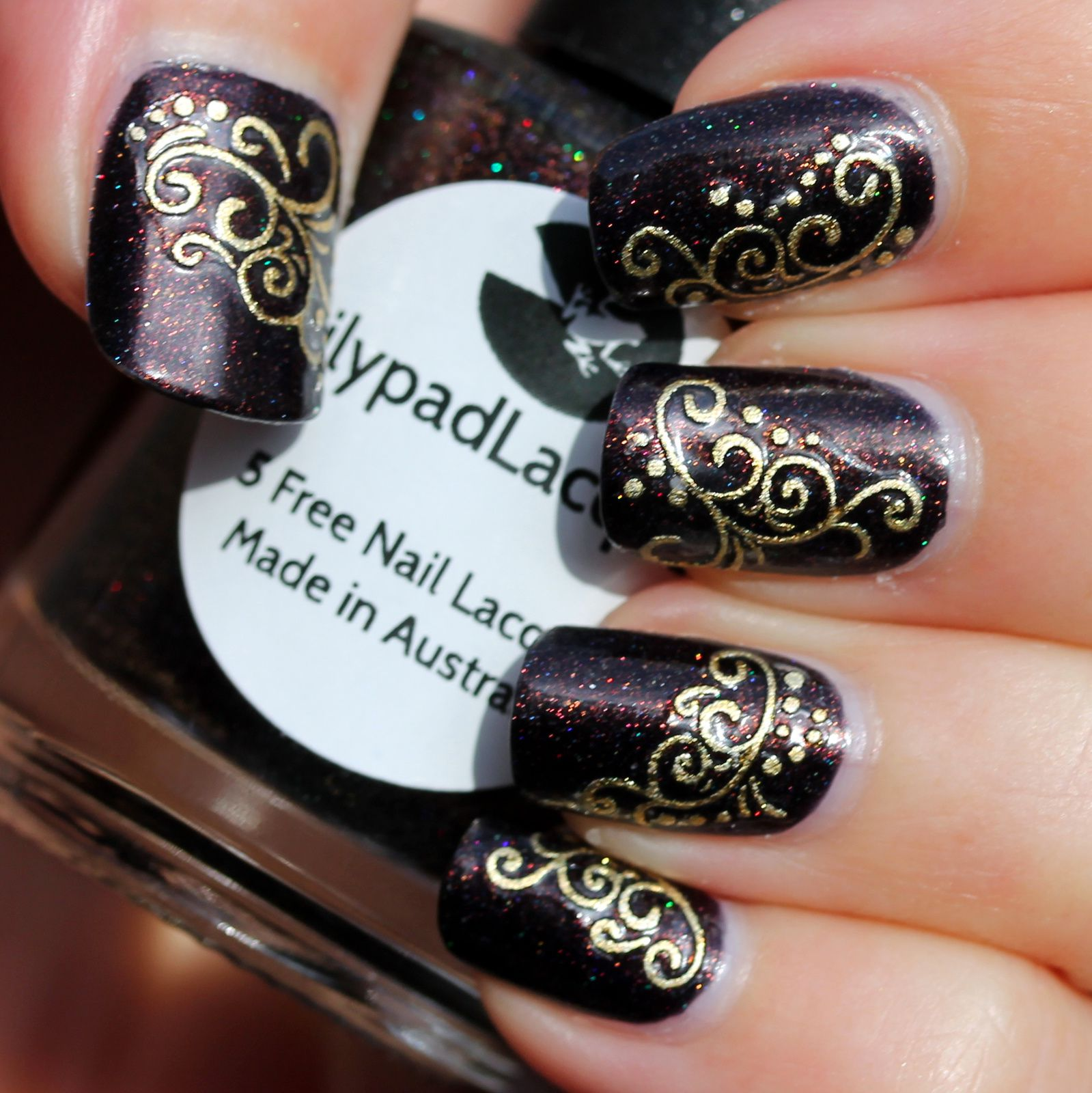 Duri Rejuvacote / Lilypad Lacquer Bronze Goddess / Golden Lace Stickers / HK Girl Top Coat