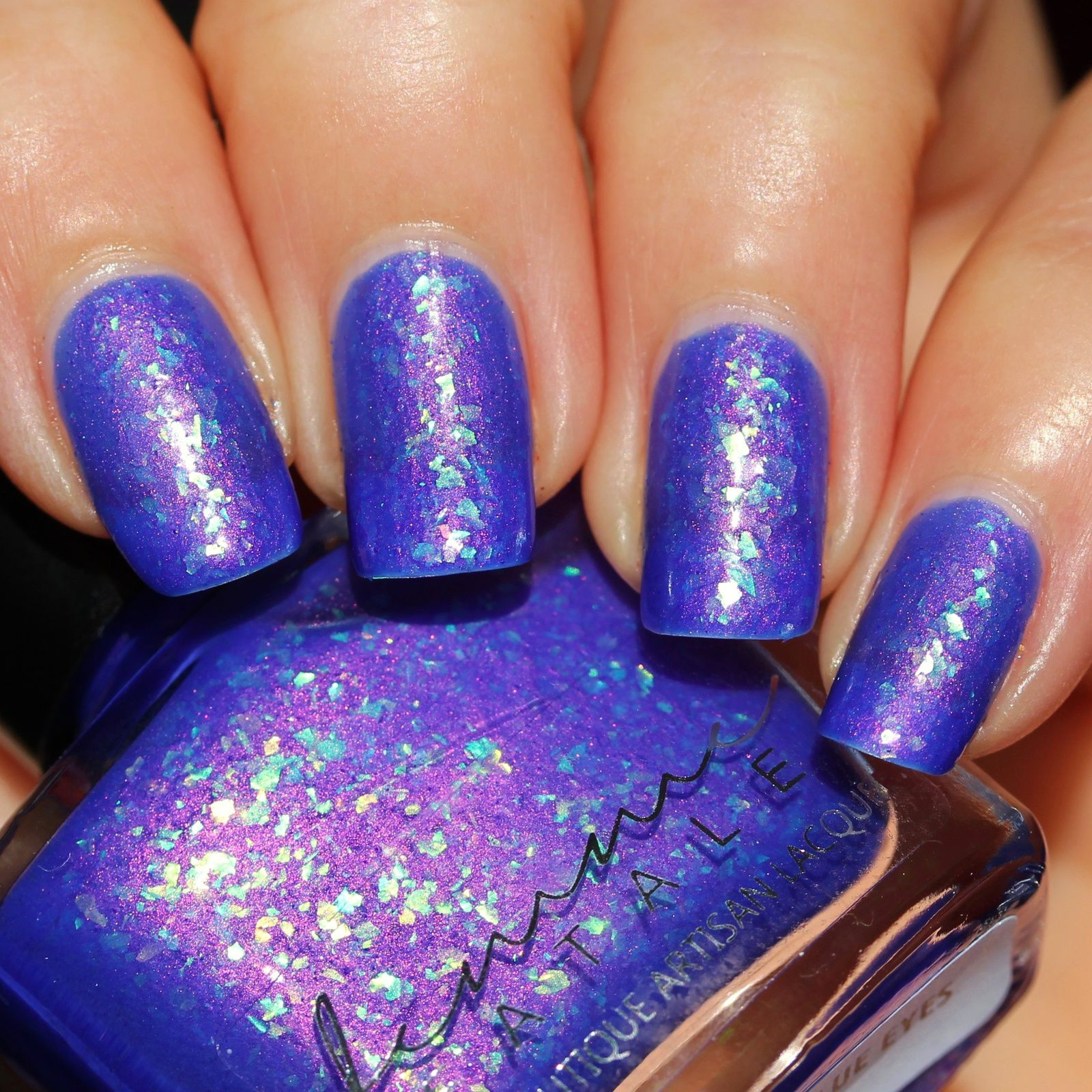Femme Fatale Cosmetics - Blue-Within-Blue Eyes (3 coats, no top coat, Thermal)