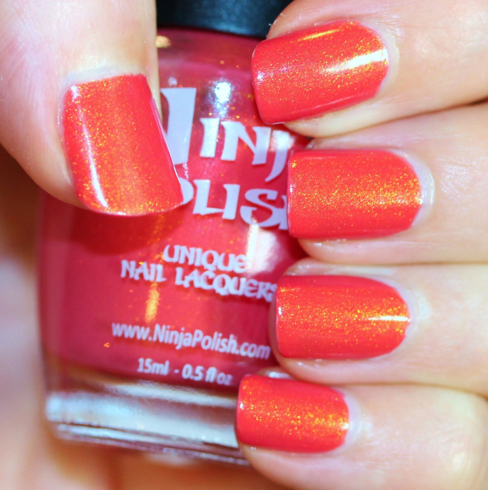 Duri Rejuvacote / Ninja Polish Pacific Coral / Sally Hansen Miracle Gel Top Coat