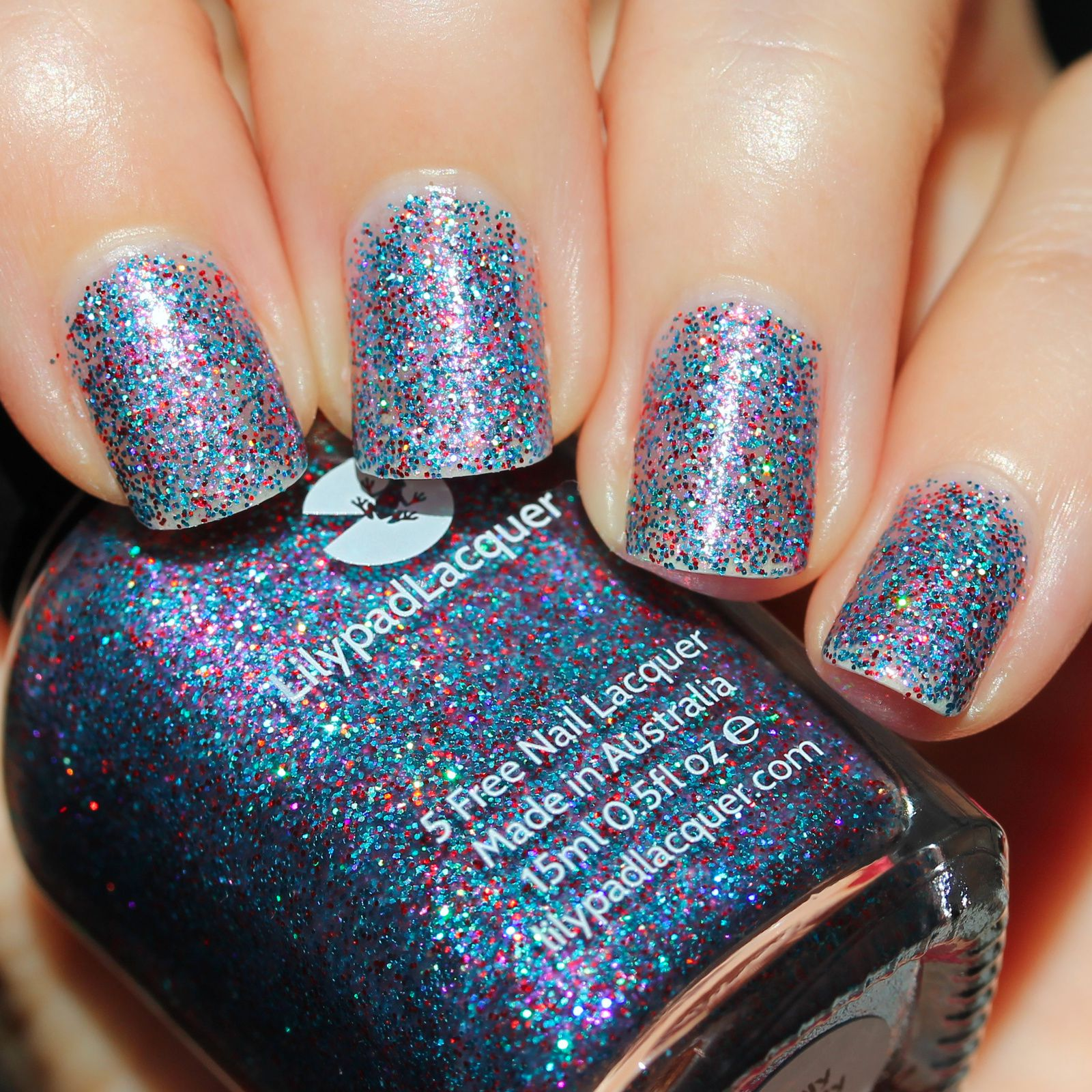 Lilypad Lacquer Be Jolly by Golly (3 coats, no top coat)