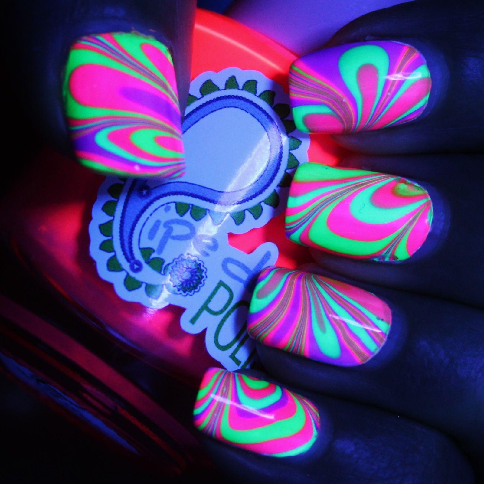 Finger Paints Base Coat for Neons / Pipe Dream Polish Tabanca, VIP Pass, On The List, Masquerader & High Roller / HK Girl Top Coat