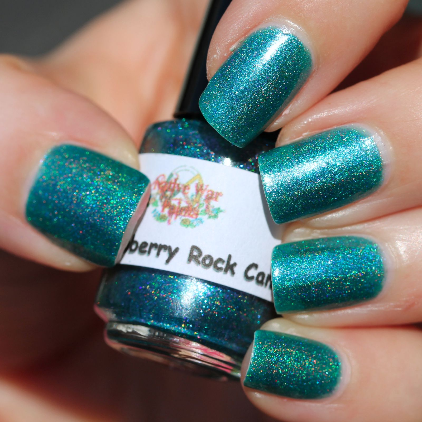 Native War Paints Blue Raspberry Rock Candy (2 coats, no top coat)