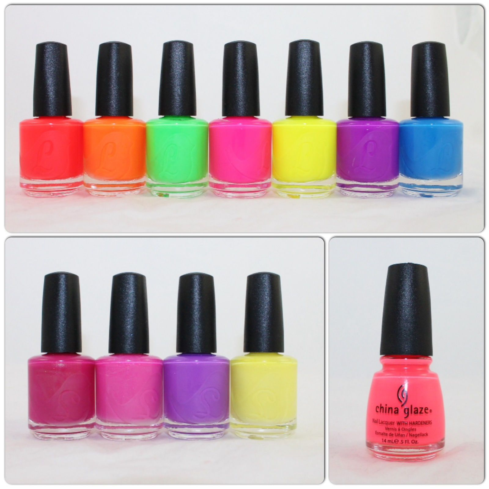 Lou it Yourself Beg the Question, The Rest is History, Avoid it Like the Plague, Selling like Hotcakes, Let Bygones Be Bygones, Car Got Your Tongue?, When It Rains it Pours, I'm Fonda your Flora, Street Petaler, Ultra Violets, Buzz on the Streets. China Glaze Flip Flop Fantasy.