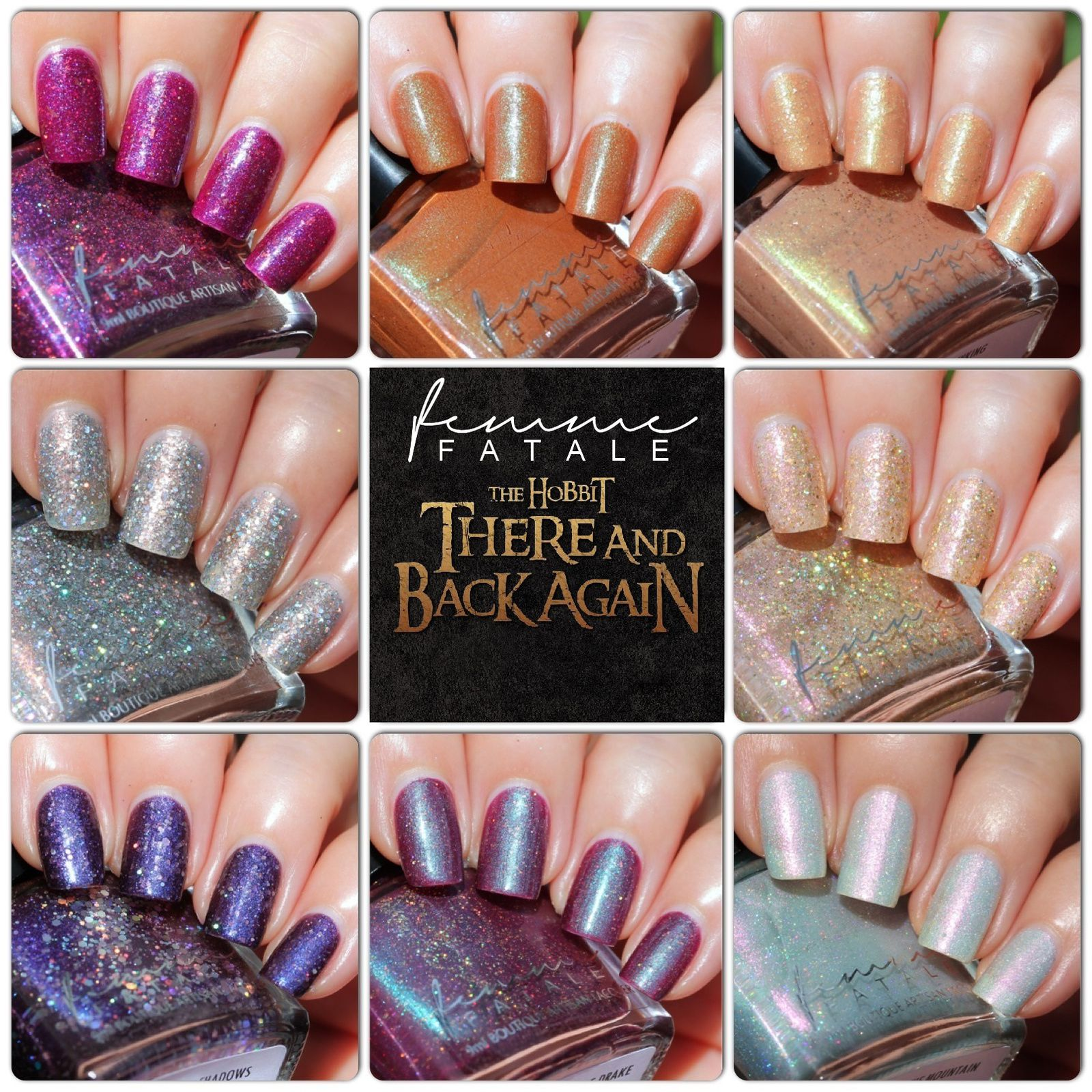 (These nail polish were sent for review by Femme Fatale Cosmetics)