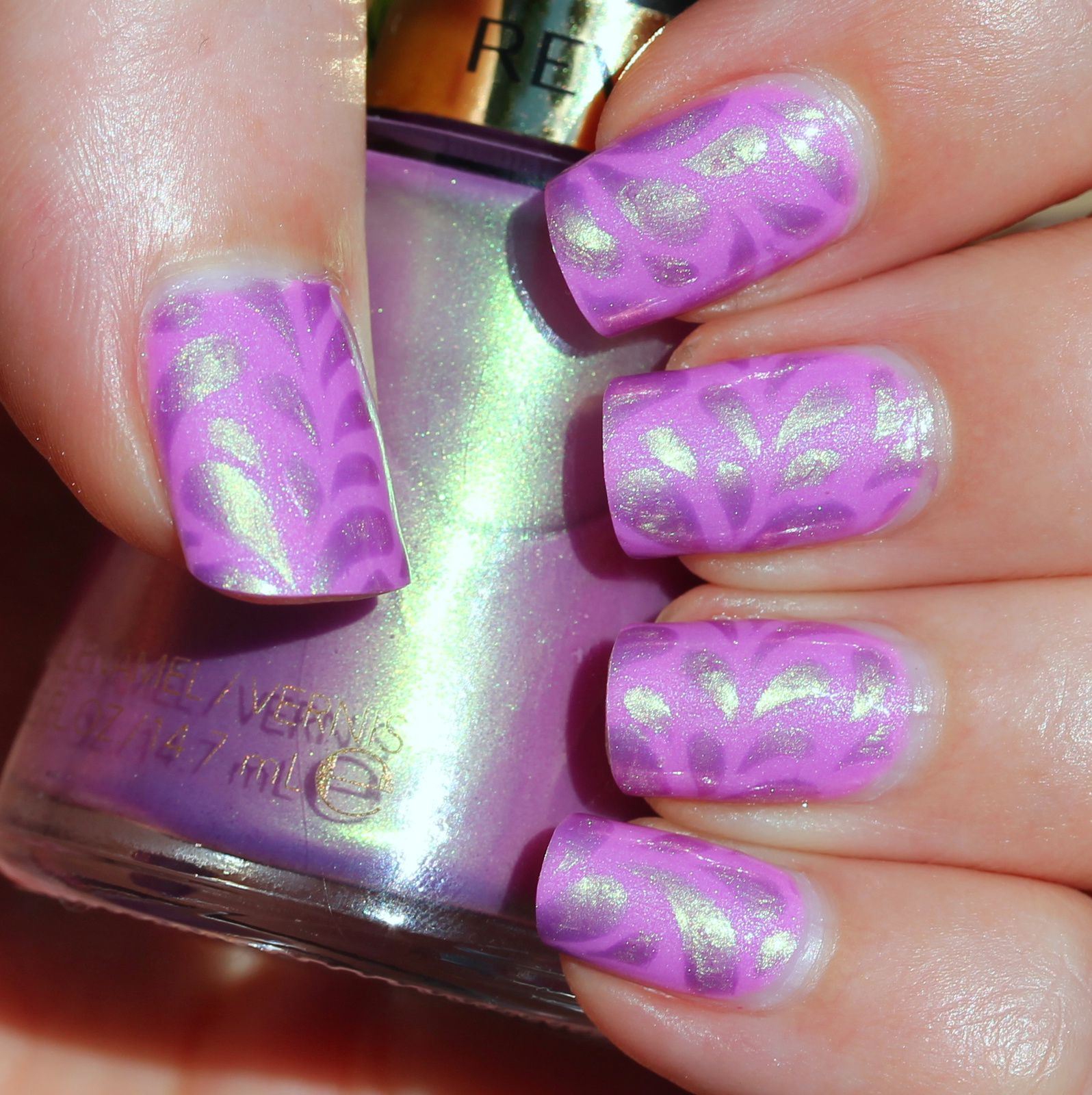 Sally Hansen Complete Care 4-in-1 Extra Moisturizing Nail Treatment / Native War Paints Blueberry Yogurt / Sally Hansen Miracle Gel Top Coat / Revlon Daydreamer & Stick It Teardrop Nail Vinyls /  HK Girl Top Coat