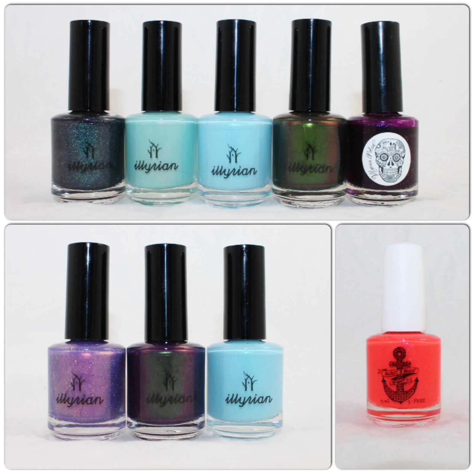IllyrianPpolish Cosmic Moment, Dream Catcher, Astral, Talisman, Witching Hour, Awaken Your Magic, Dream Hopper, Astral. Anchor & Heart Lacquer Vacation Land.