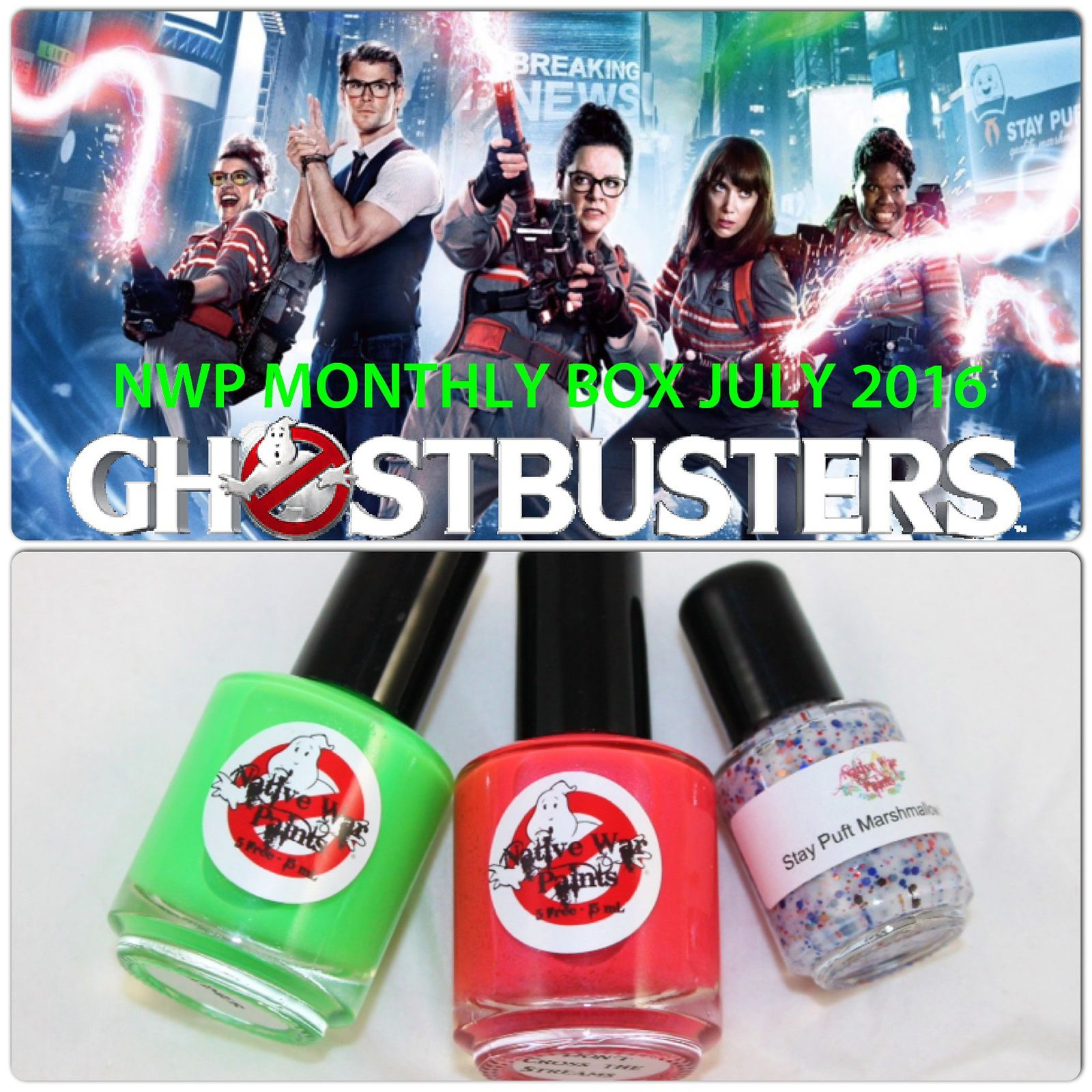 Native War Paints Monthly Box - July 2016 - Ghostbusters
