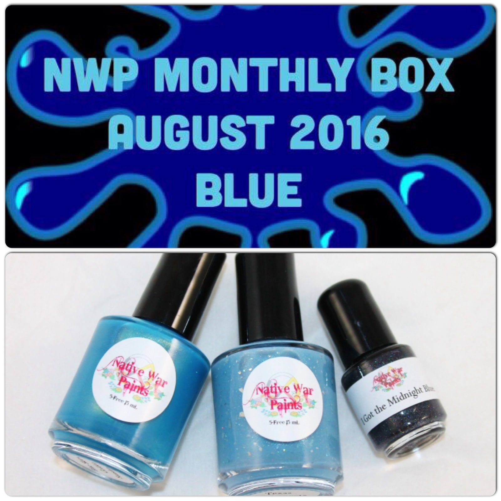 Native War Paints Monthly Box - August 2016 - Blue