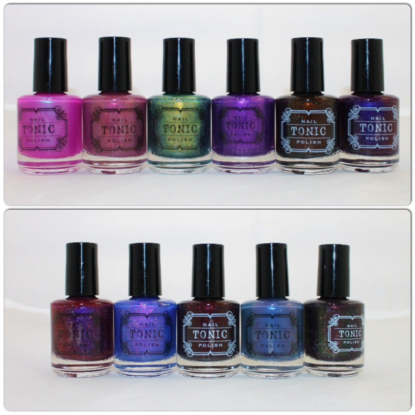Tonic Polish Light of Alexandria, Poison Rose, Slitherin', Toxic, Ninja Pumpkin, Spellbound, Polish Con or Bust! 2016, Windy City, Bloody Hell, Silent Storm, Watcher's Woods.