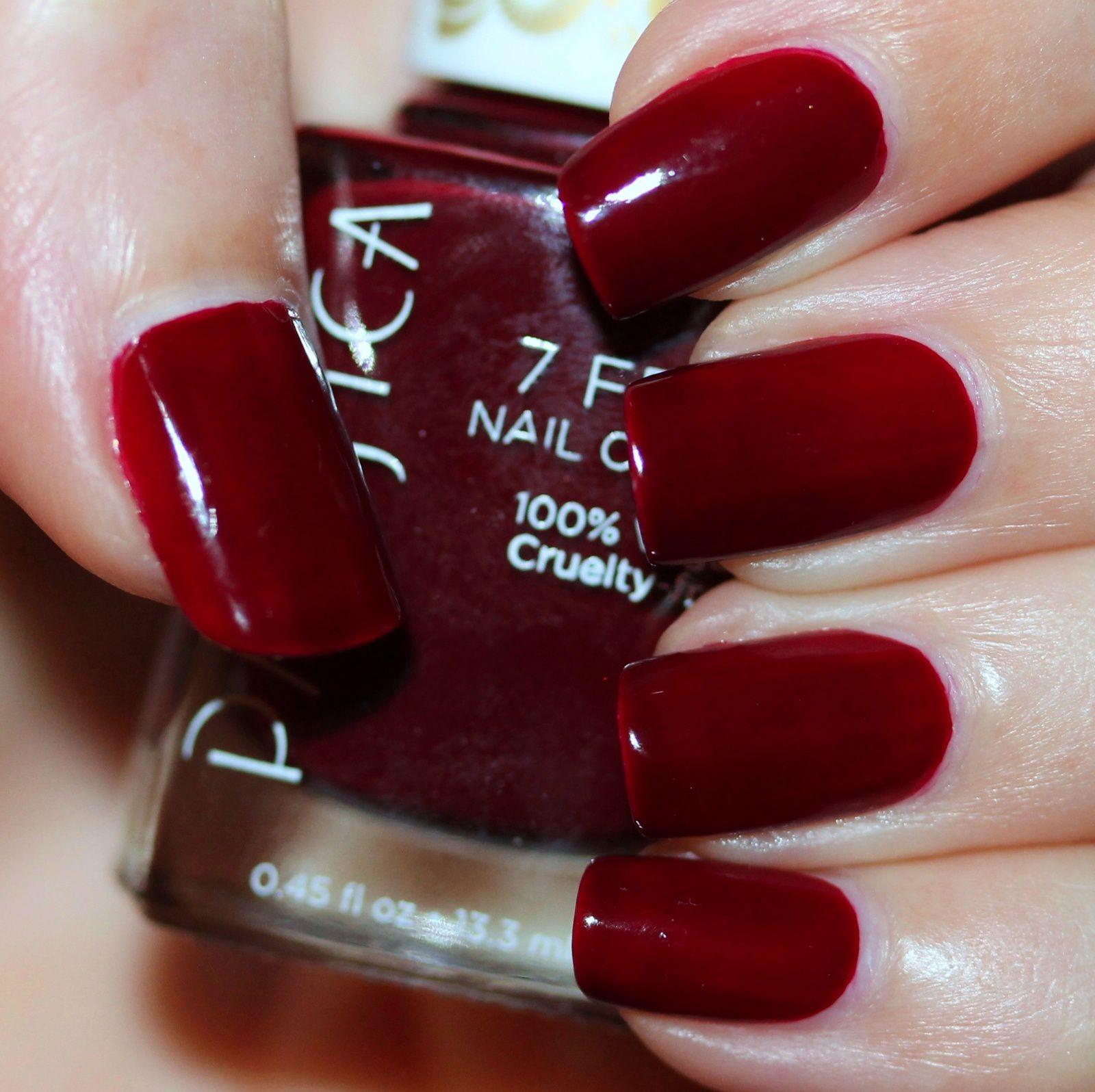 Duri Rejuvacote / Pacifica Red Red Wine / Poshe Top Coat