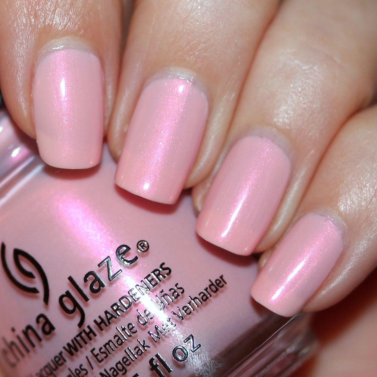 Essie Protein Base Coat / China Glaze Eat, Pink, Be Merry / Poshe Top Coat