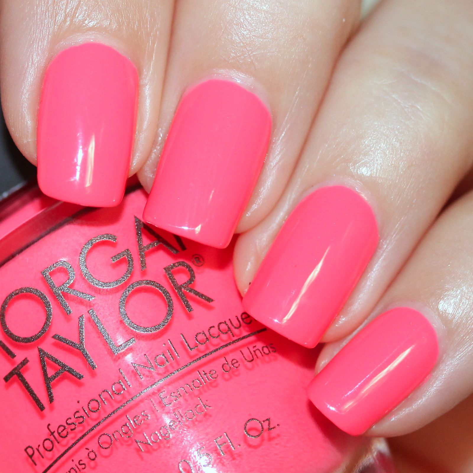 Sally Hansen Complete Care 4-in-1 Extra Moisturizing Nail Treatment / Morgan Taylor Pink Flame-ingo / Poshe Top Coat
