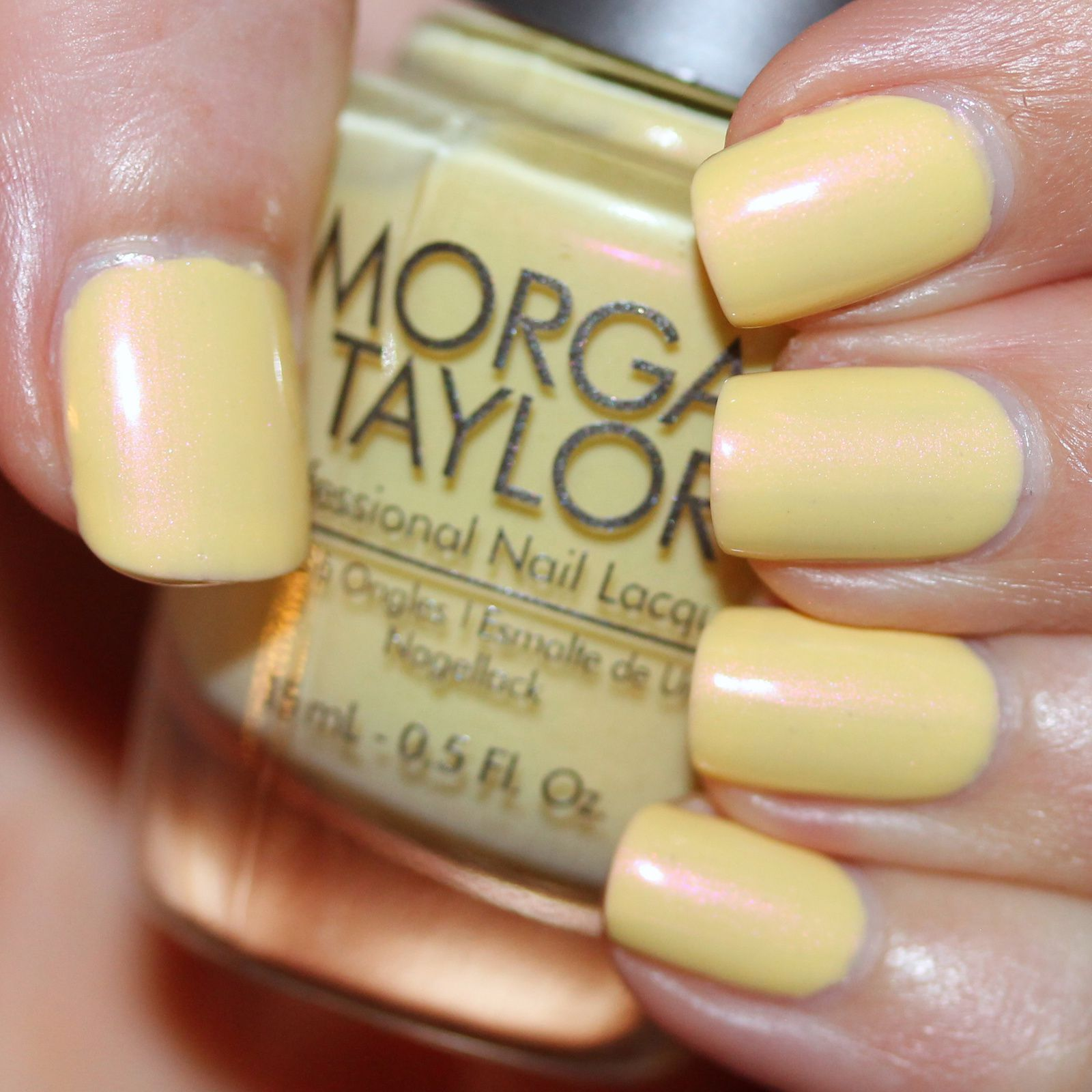 Sally Hansen Complete Care 4-in-1 Extra Moisturizing Nail Treatment / Morgan Taylor Days in the Sun / Poshe Top Coat