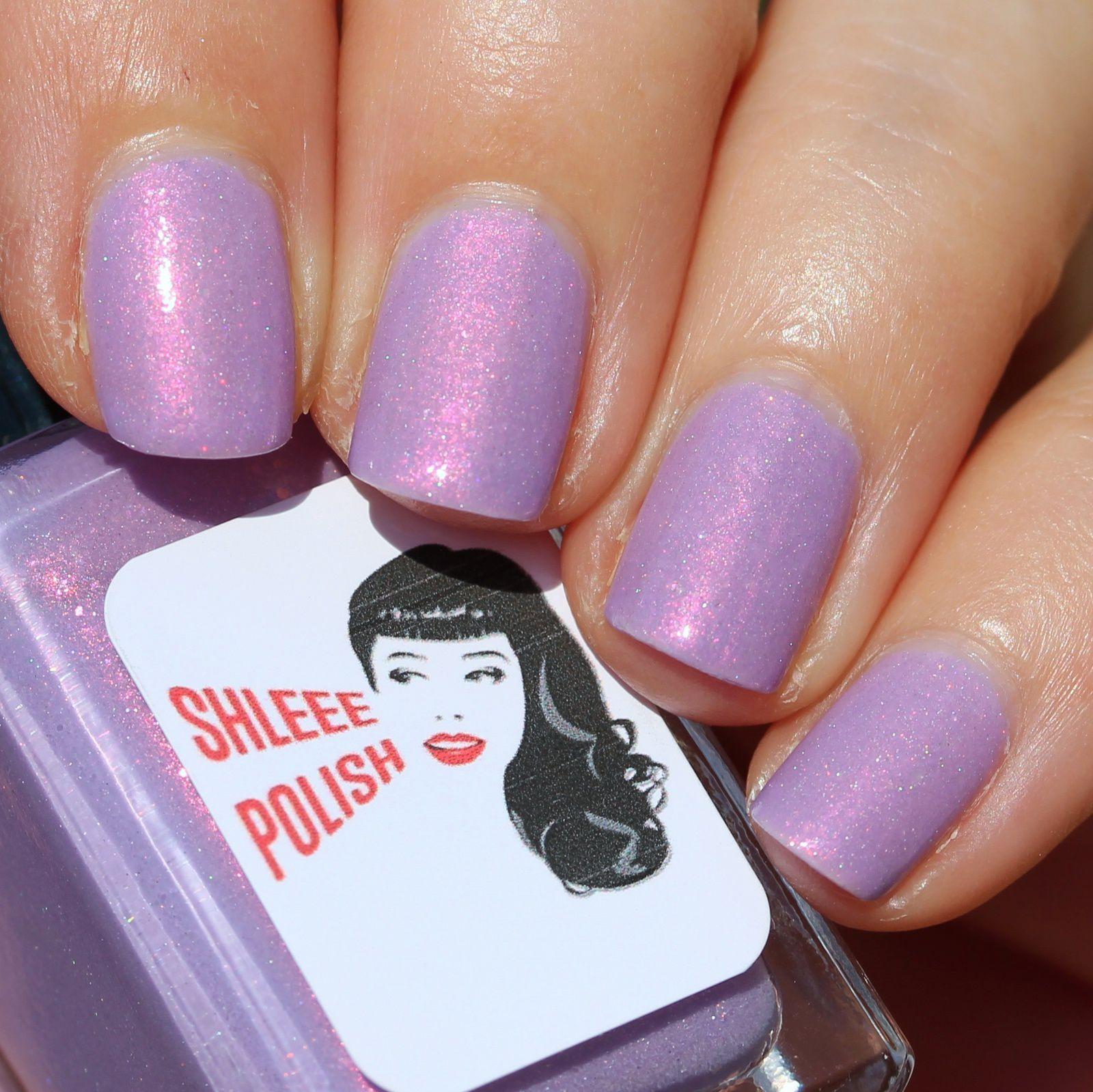 Sally Hansen Complete Care 4-in-1 Extra Moisturizing Nail Treatment / Mavala Nail Shield Phase I Nylon Fibers / Shleee Polish Wisteria / HK Girl Top Coat