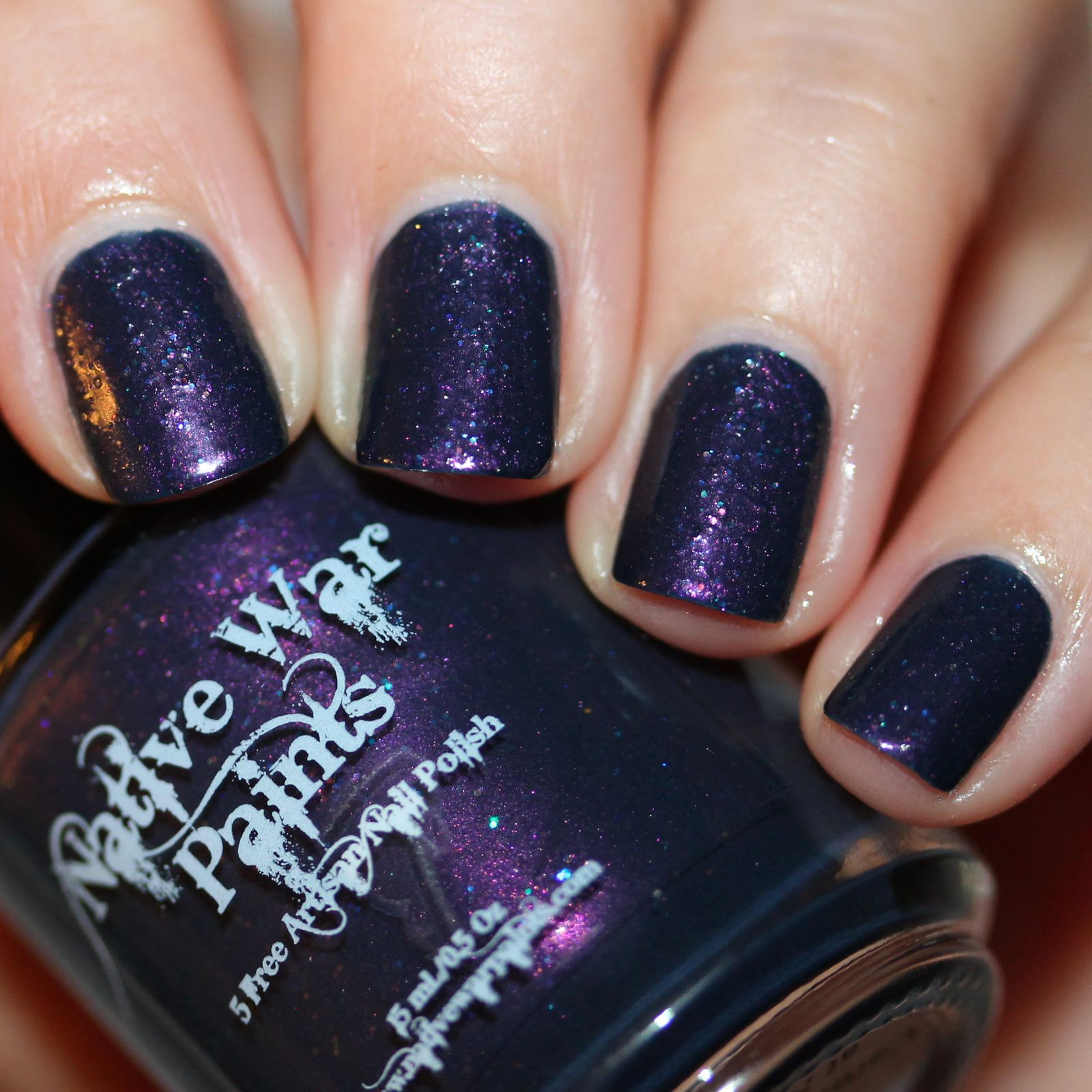Native War Paints Carnival Lights at Night (2 coats, no top coat)