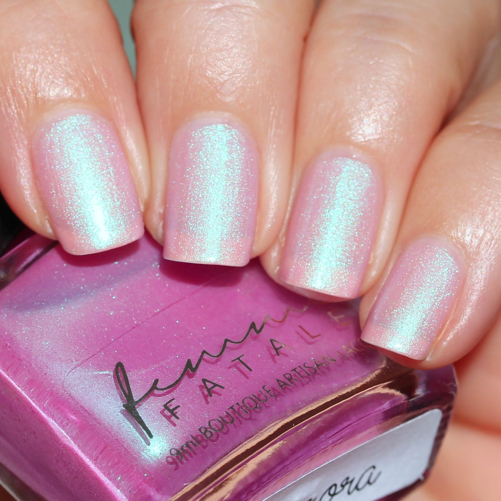 Sally Hansen Complete Care 4-in-1 Extra Moisturizing Nail Treatment / Femme Fatale Cosmetics Aurora / HK Girl Top Coat