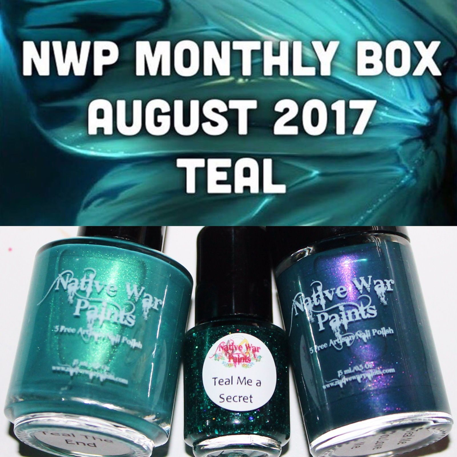 Native War Paints Monthly Box - August 2017 - Teal