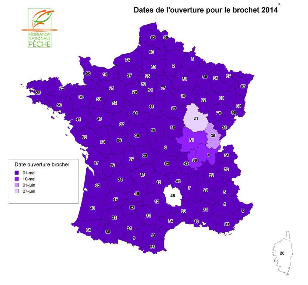 Dates d'ouvertures du carnassier en France en 2014