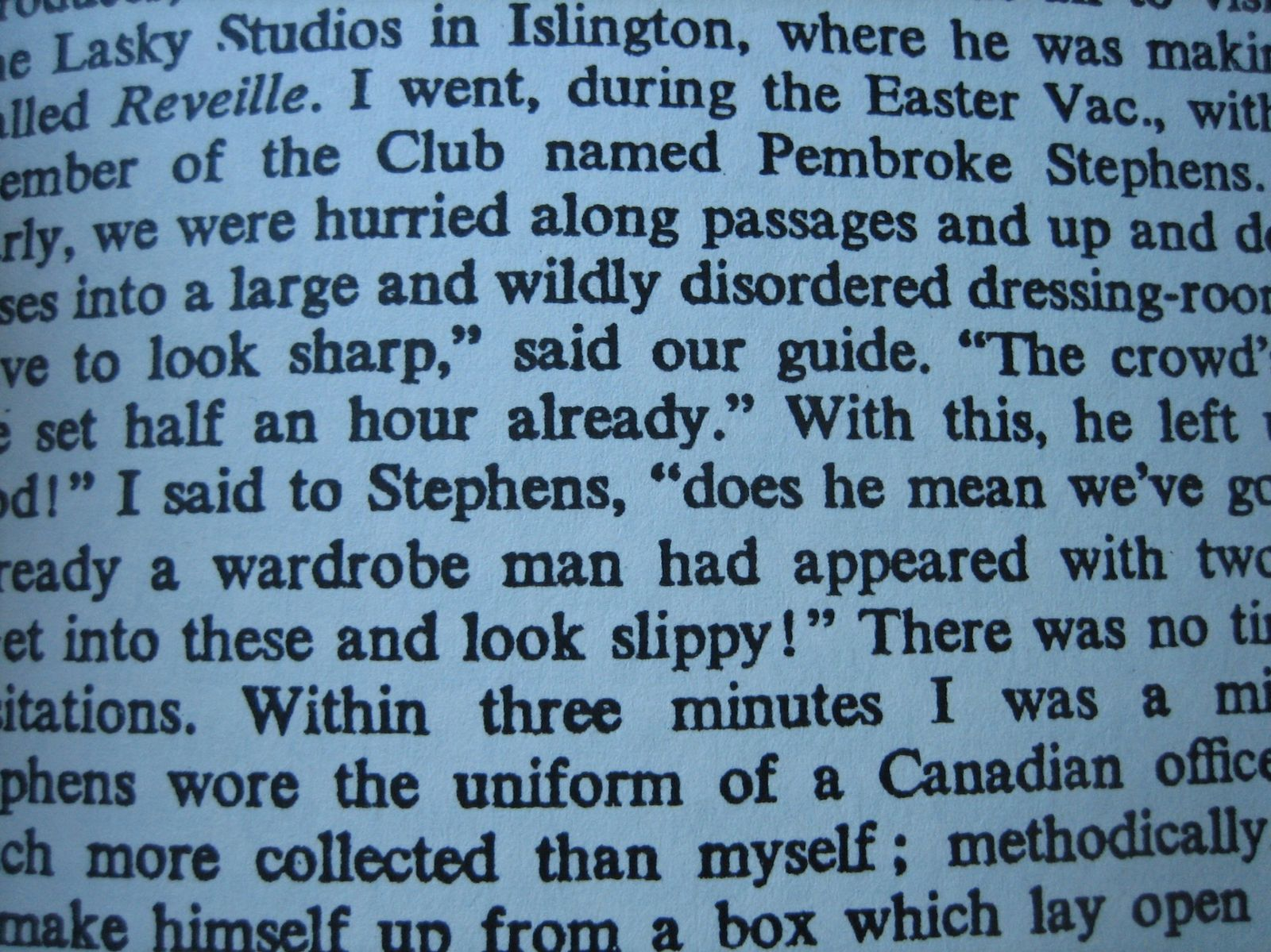 ... c'est un bout de page de Lions & Shadows de Christopher Isherwood ...