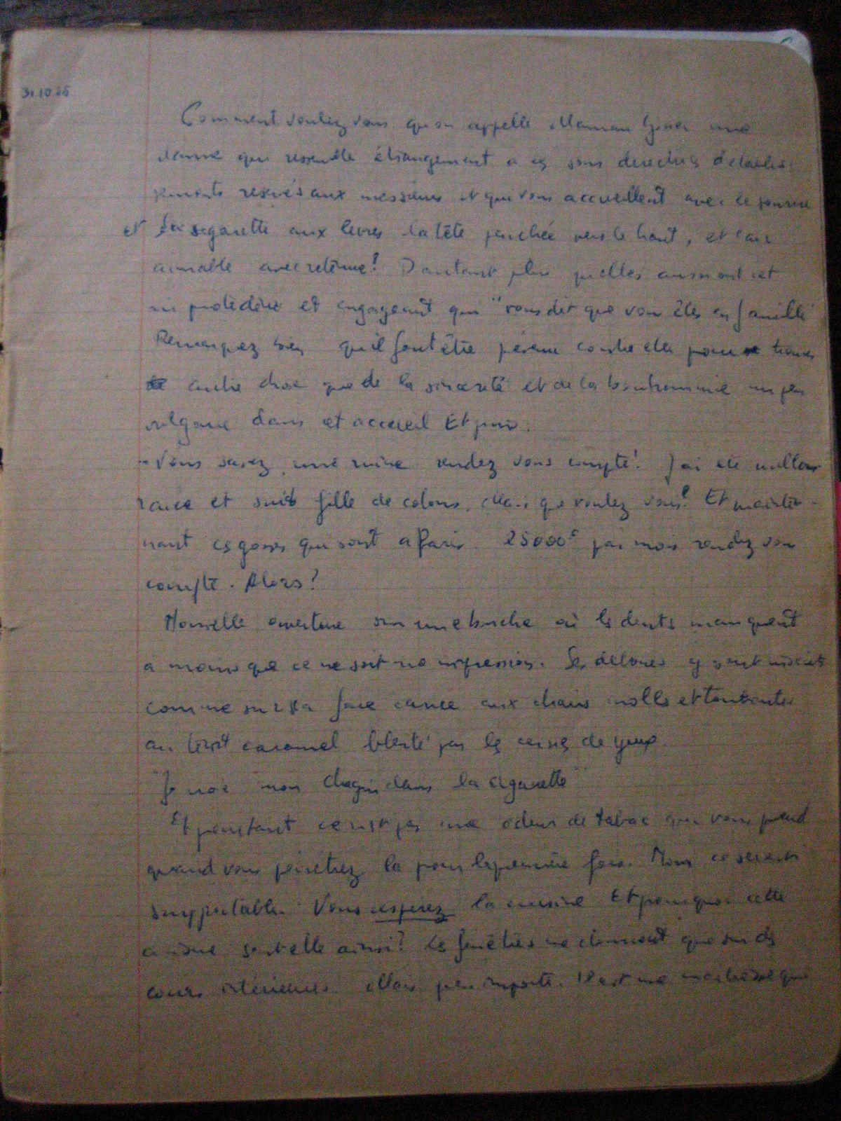 la première page