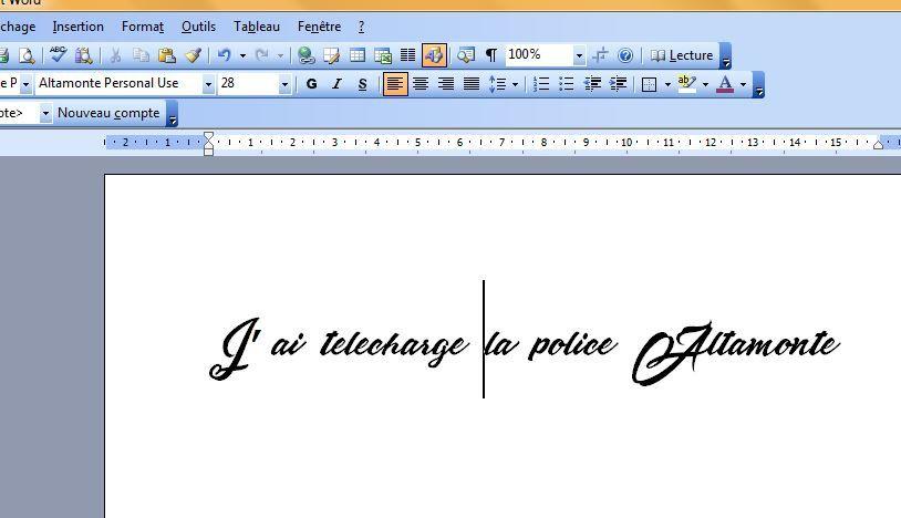 télécharger nouvelles polices pour word 2007