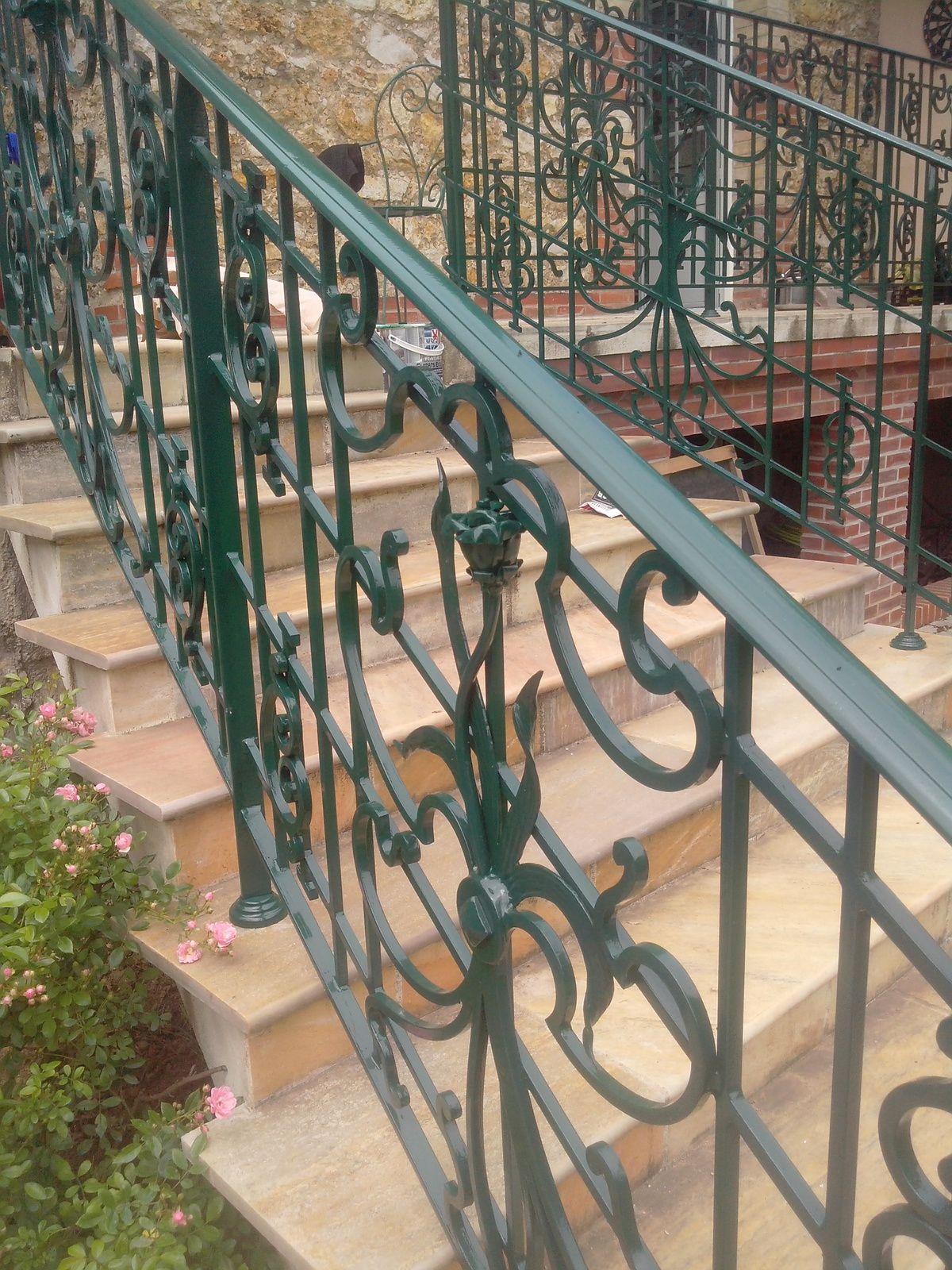 Rampe d'escalier ( maison à Montgeron)