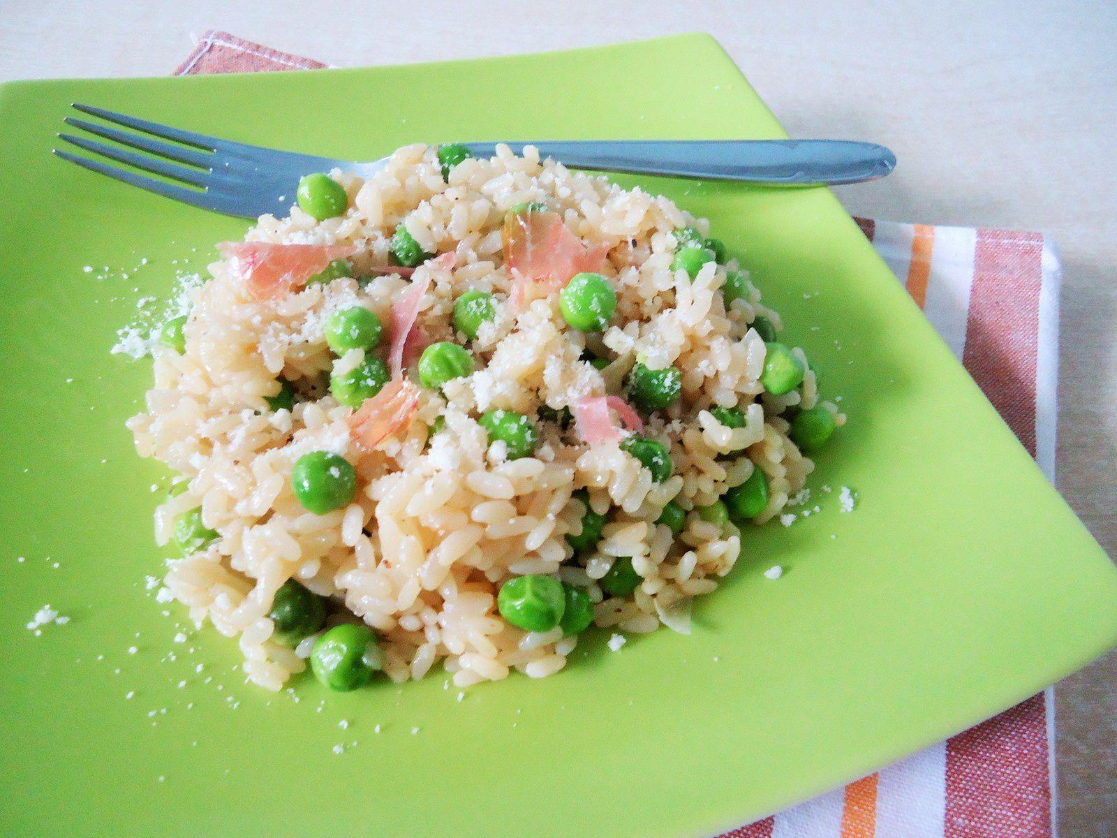 Risotto aux garden peas
